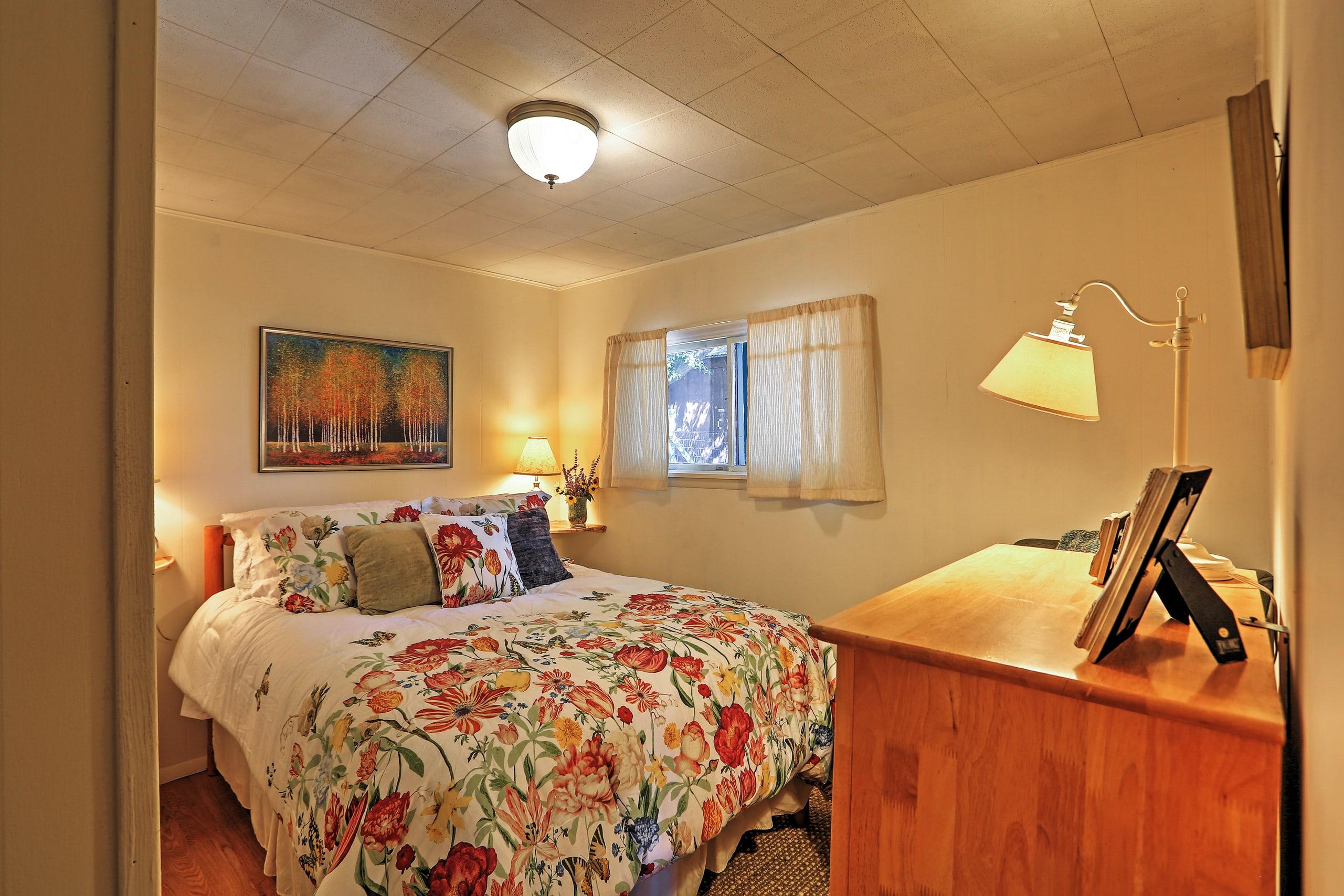 Sweet dreams await in this bedroom!