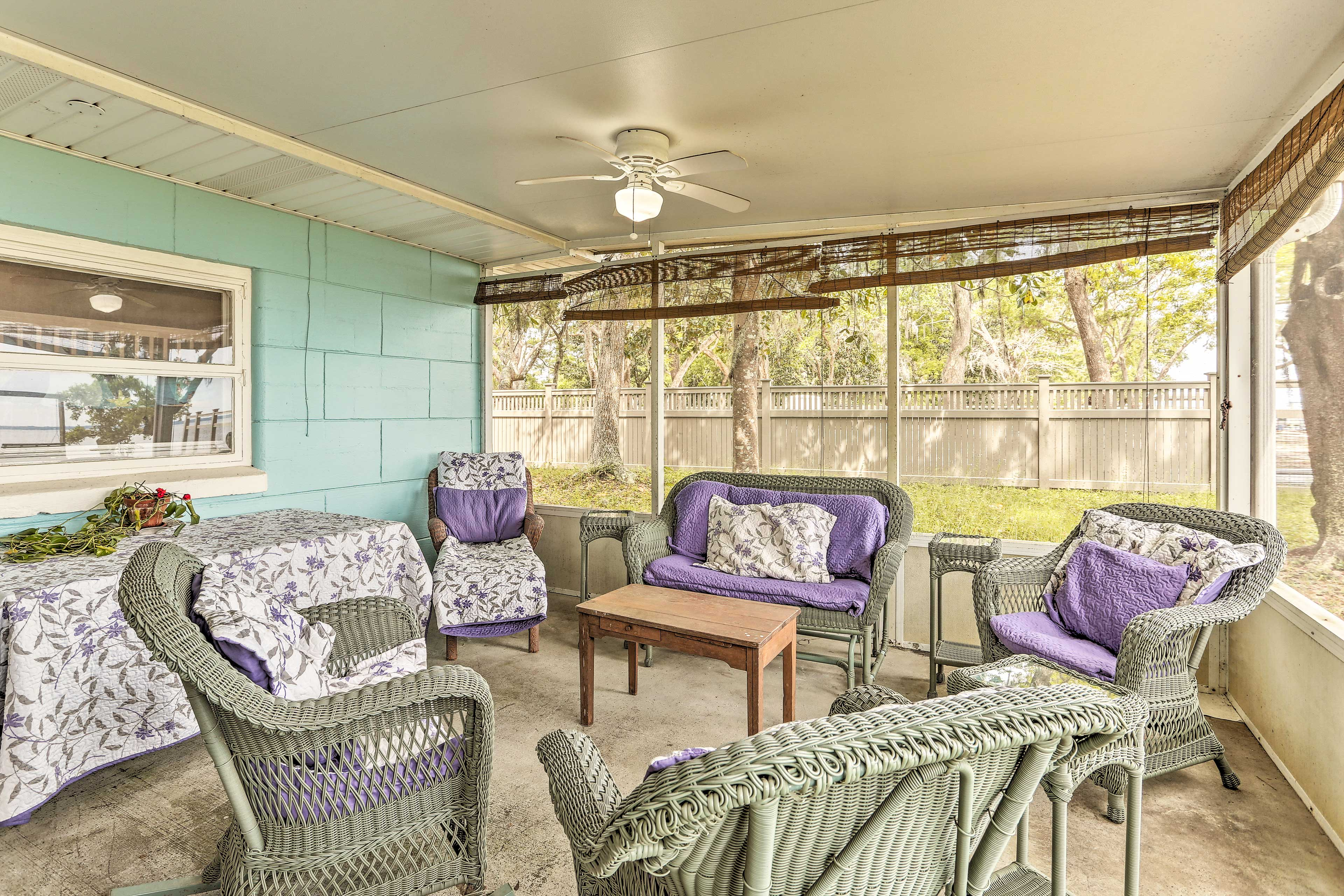 Enjoy a breeze on the screened porch.