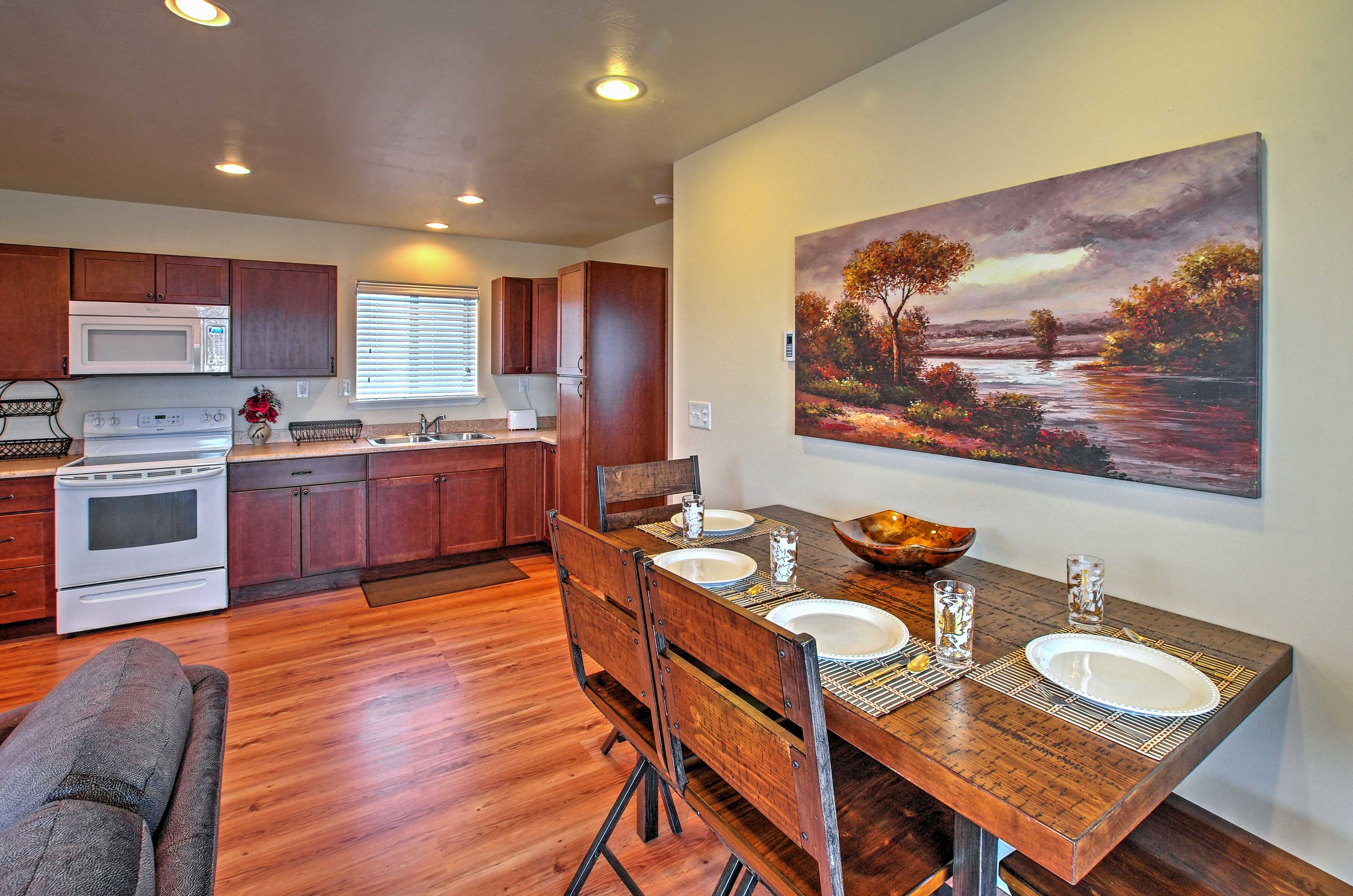 This recently updated home provides a great space to relax.