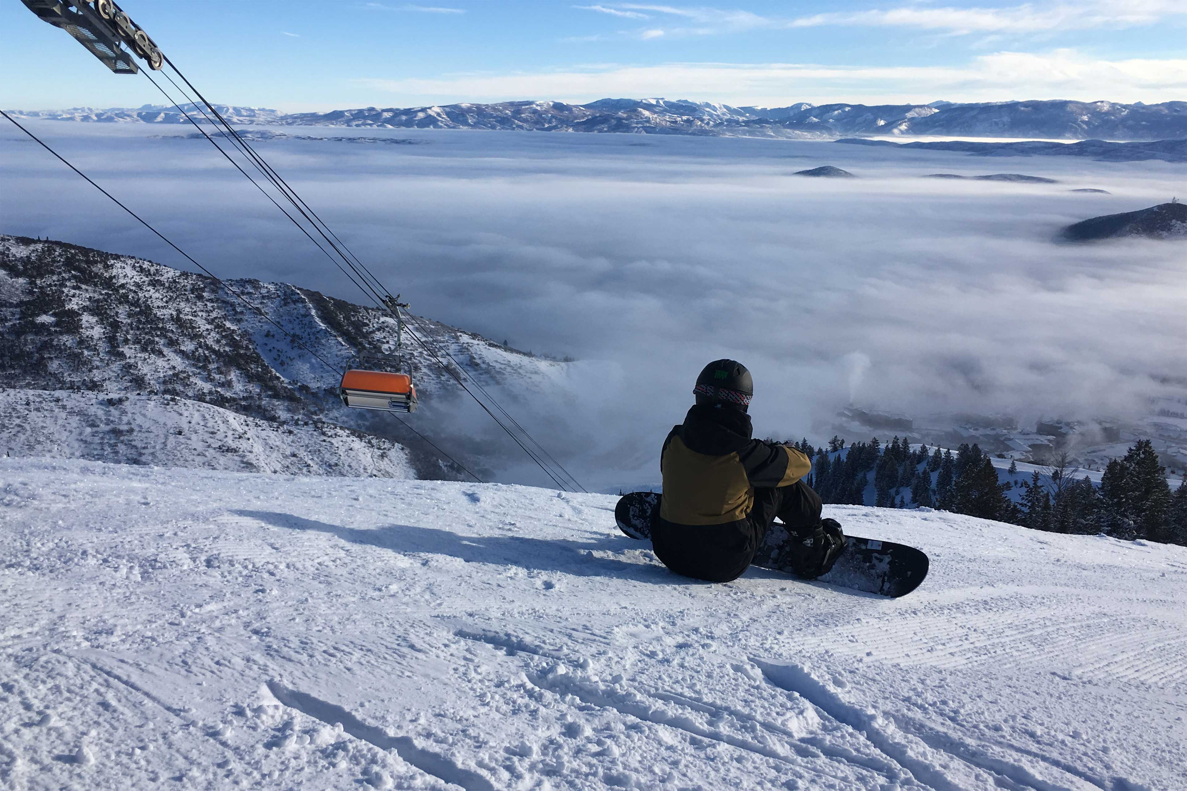 Morning groomers on the best snow on earth, with views of the Uinta Mountains!