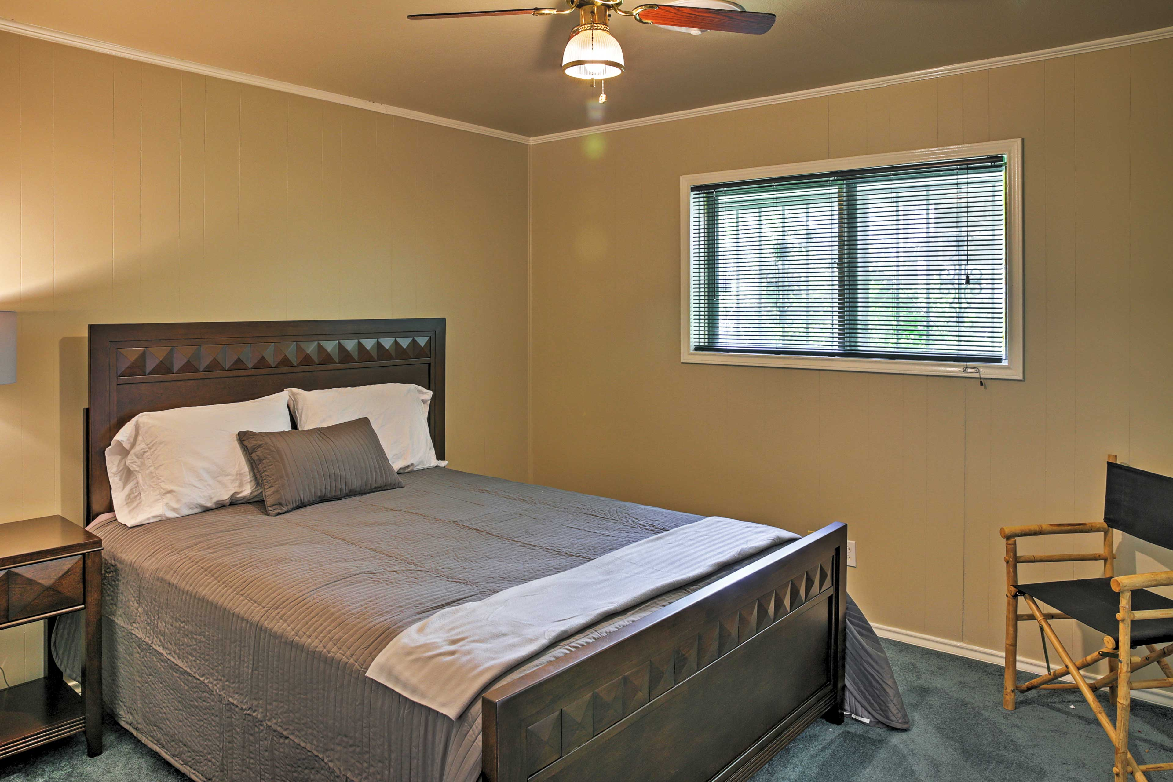 Look forward to great nights of sleep in this cozy bed.