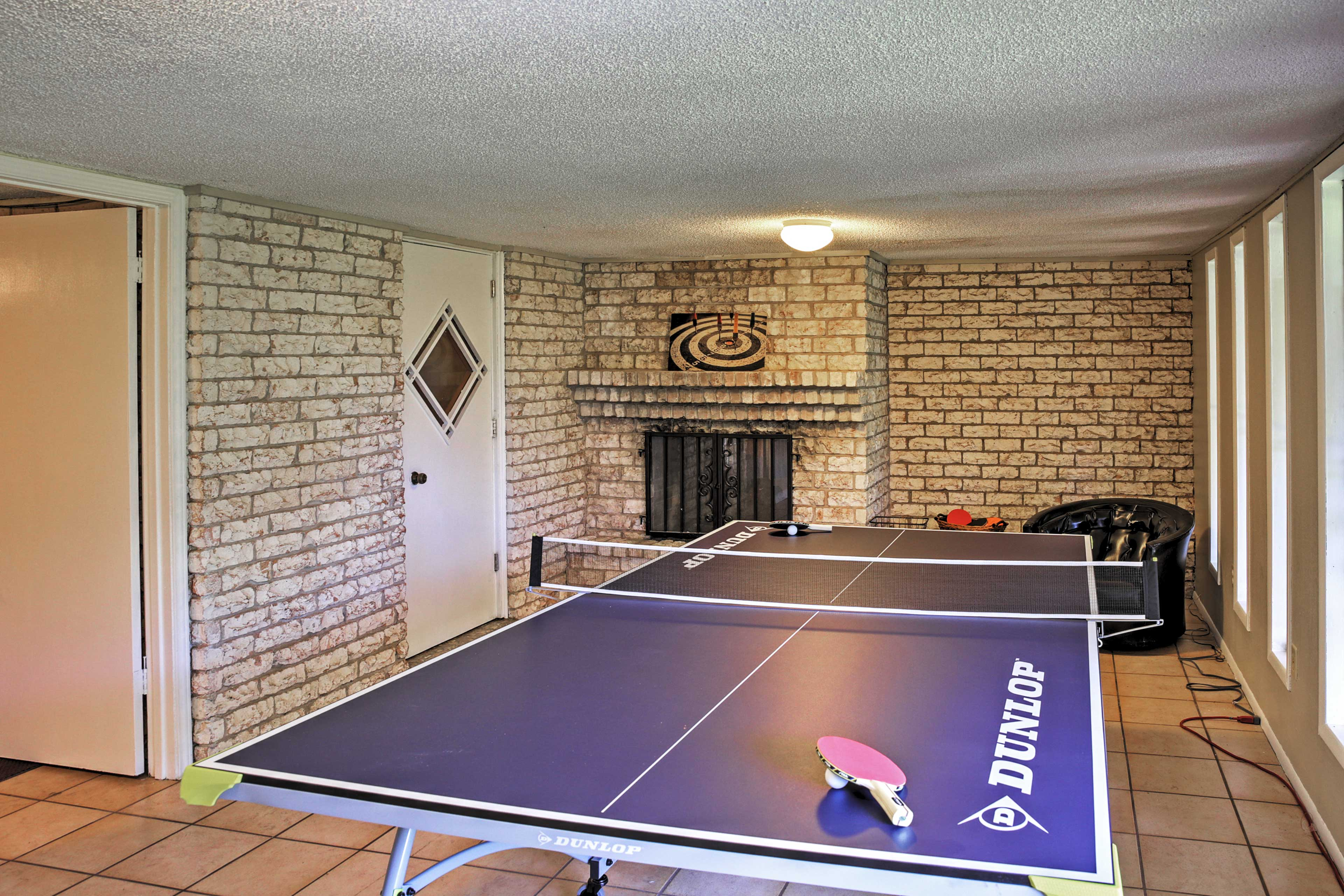 Challenge your loved ones to a friendly ping pong match!