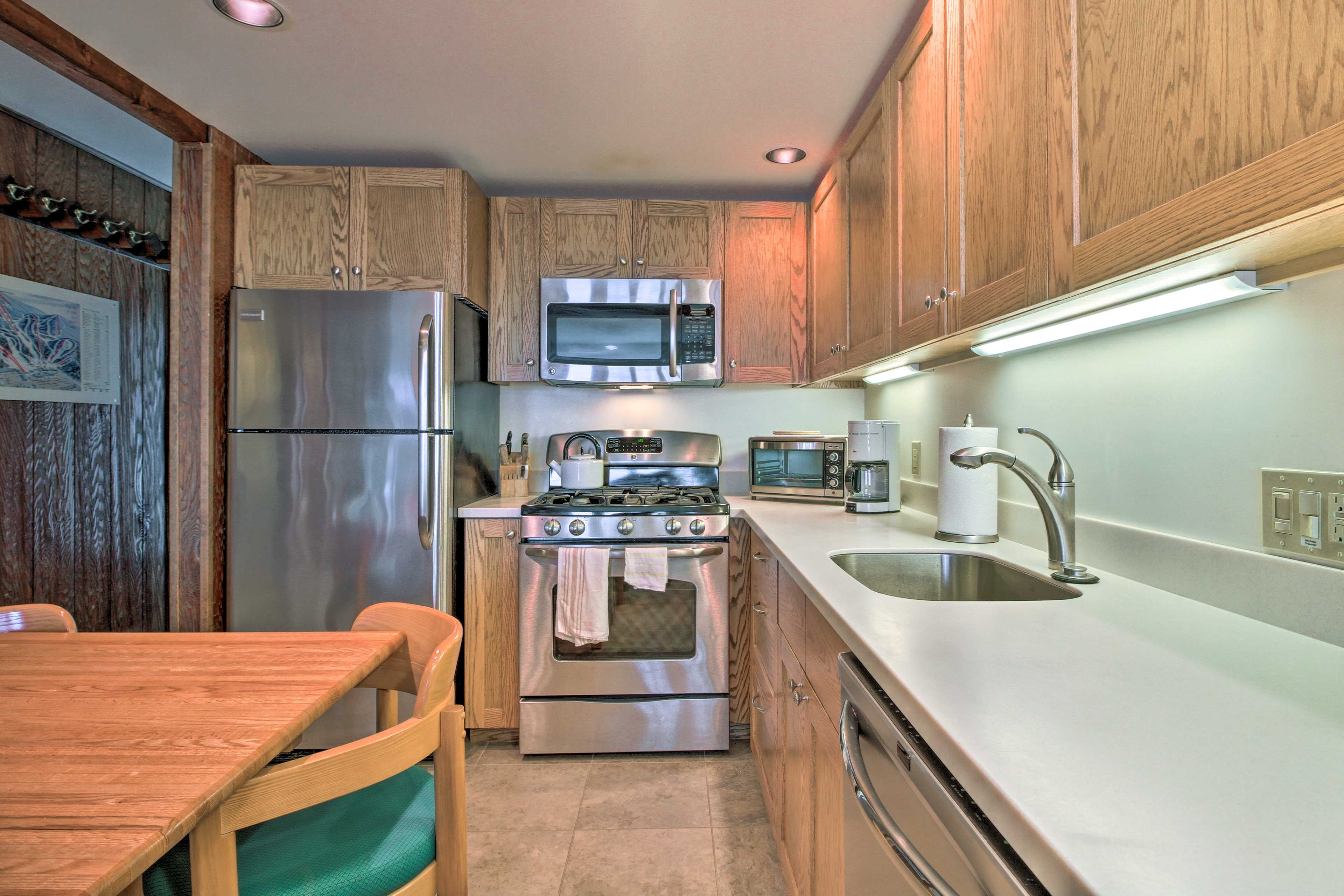 Make all of your meals in the fully equipped kitchen.