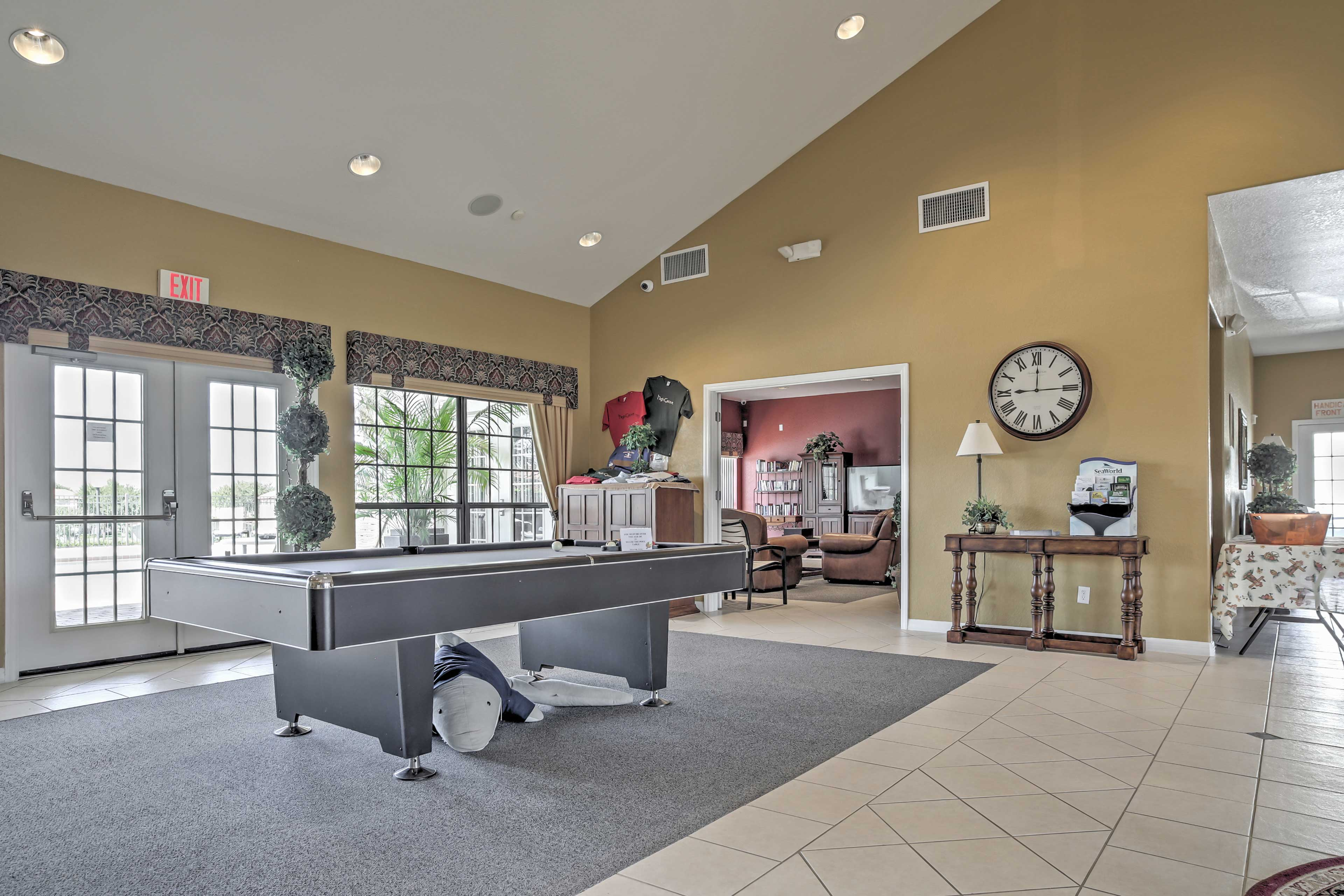 The community clubhouse offers a whole other area to socialize.