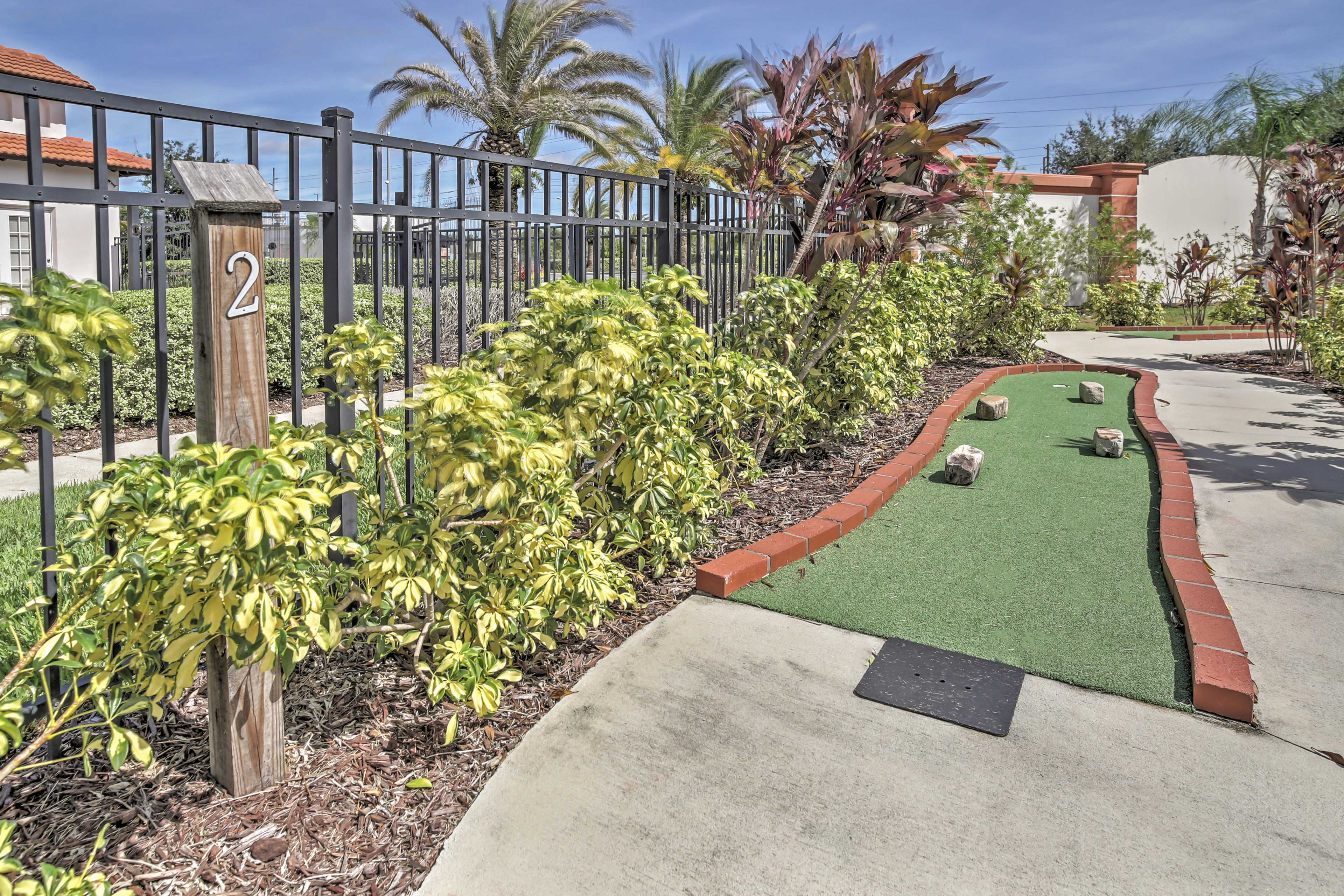 Improve your golf skills on the putt-putt course.