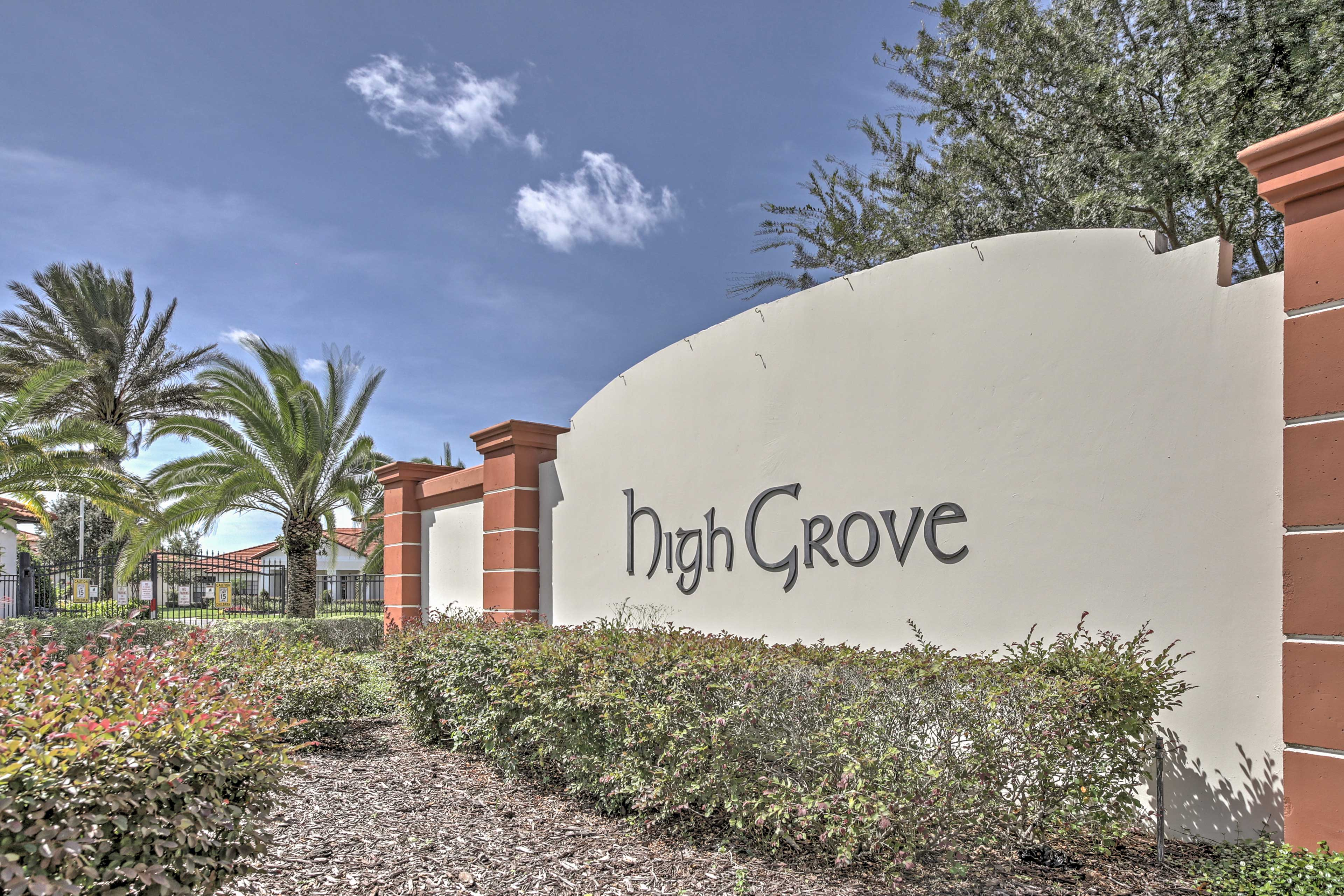Part of the High Grove community, you'll have access to a pool & spa.