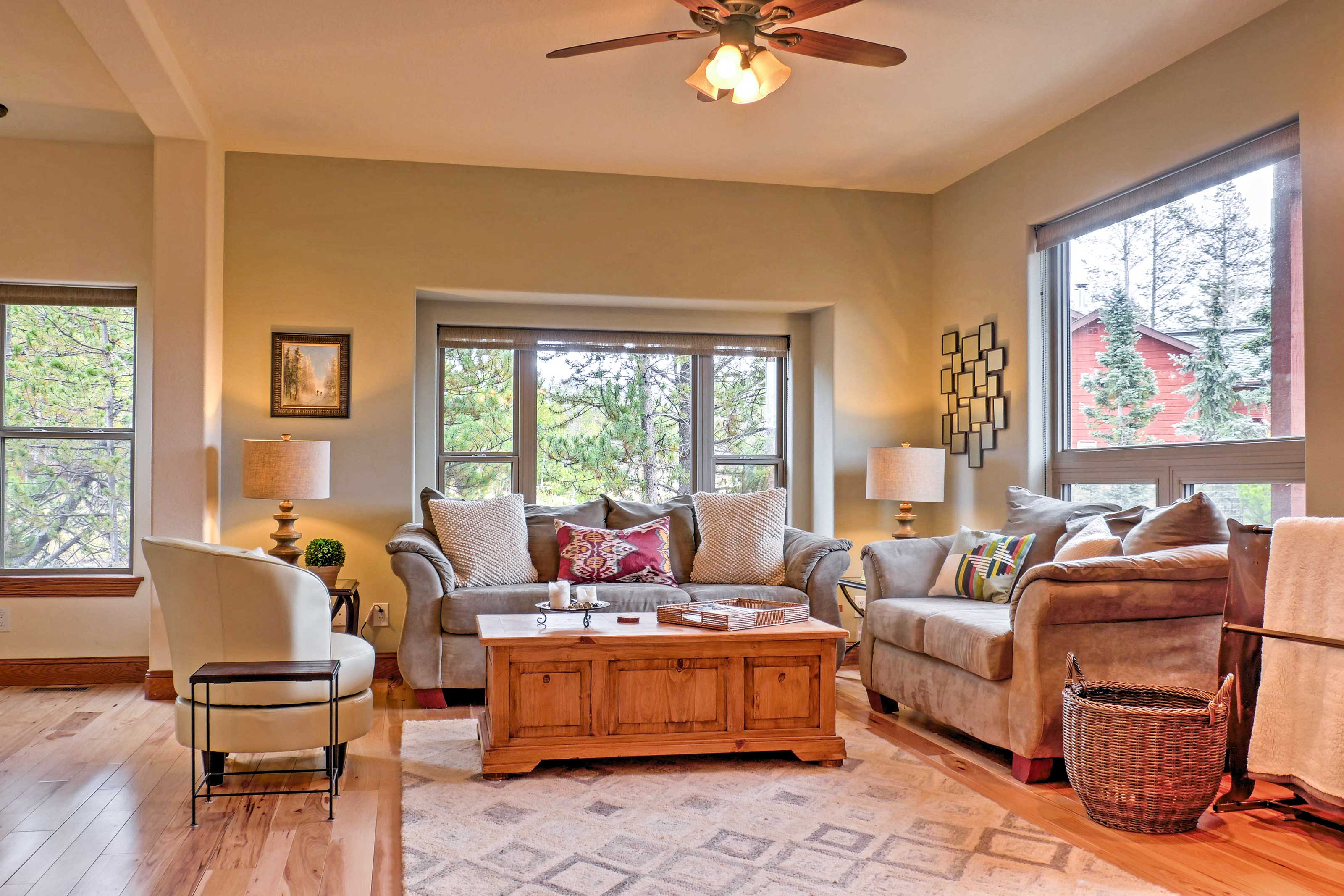 Feel right at home in the bright and airy interior.