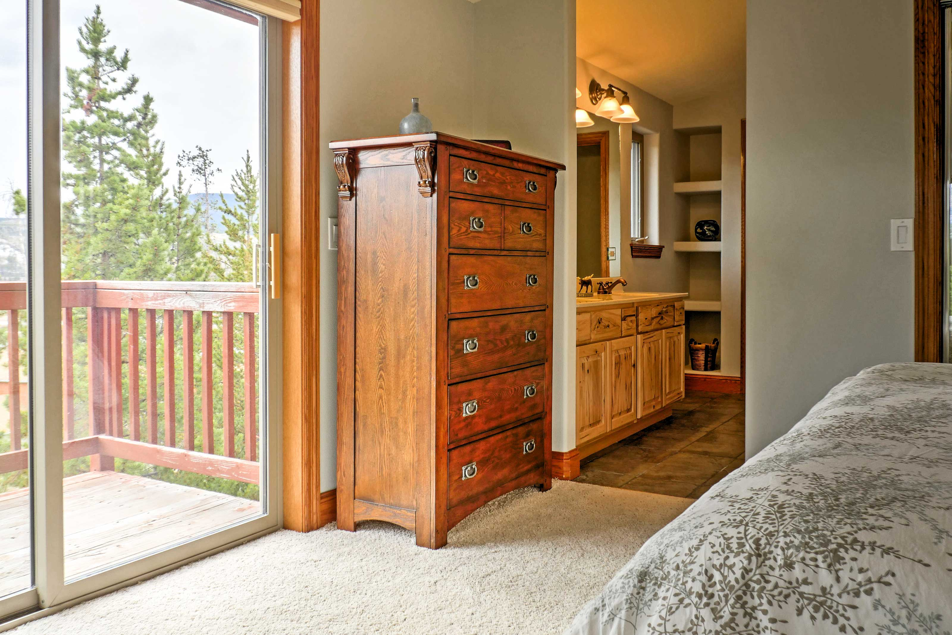 Enjoy the privacy of your own deck and en suite bathroom!