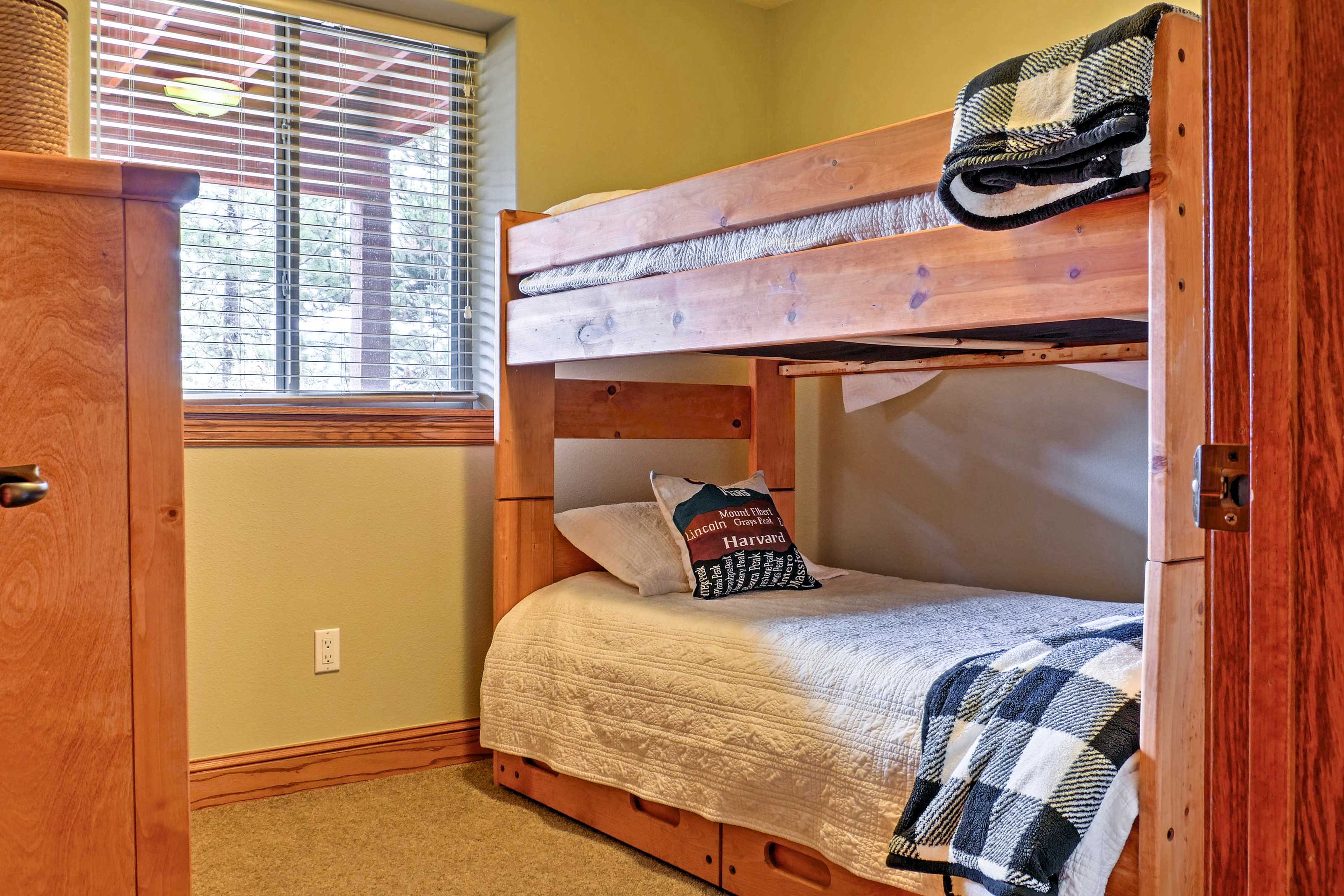 The kids will love this twin-over-twin bunk bed.