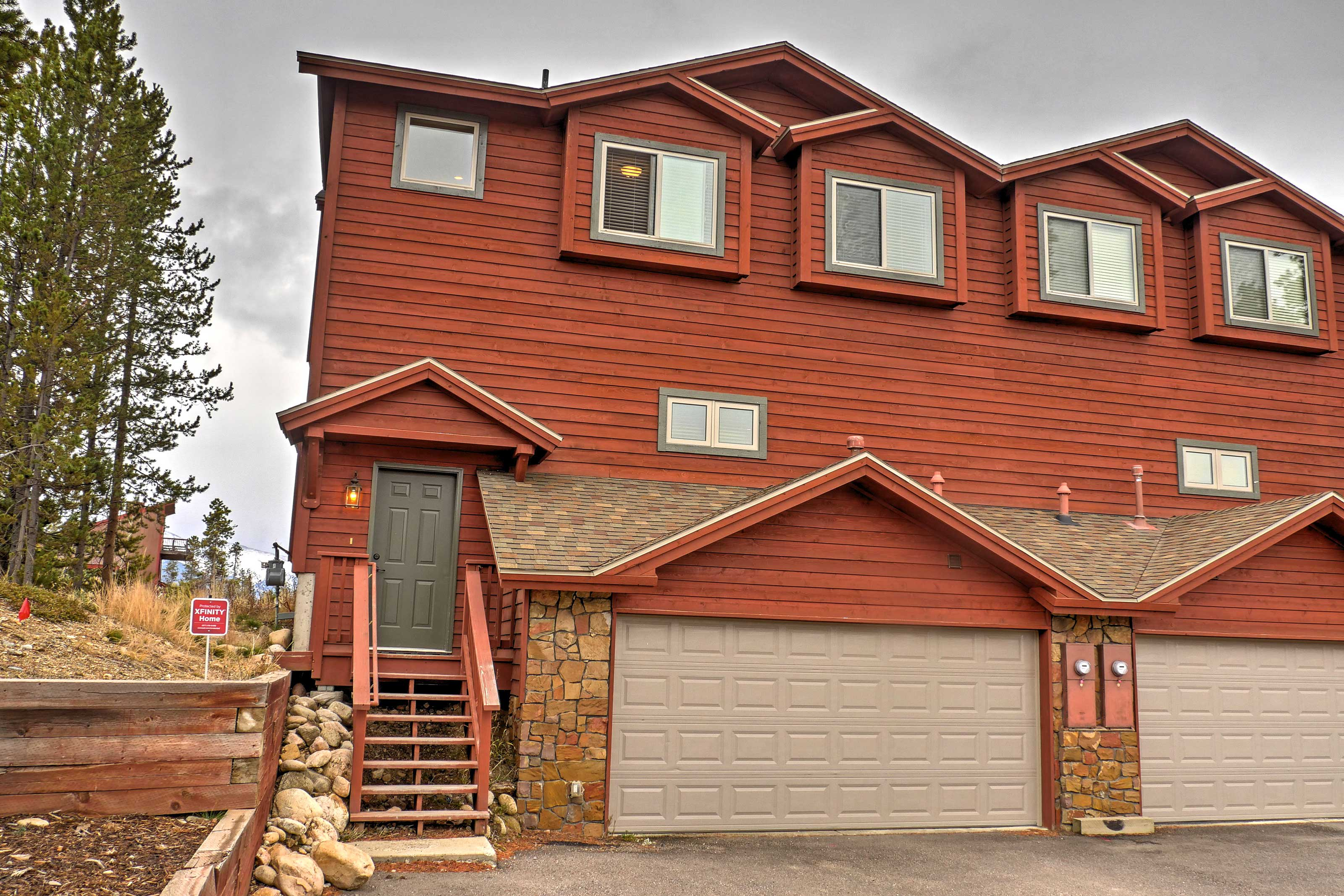 You're sure to have a relaxing mountain retreat when you book this scenic Fraser vacation rental townhome!