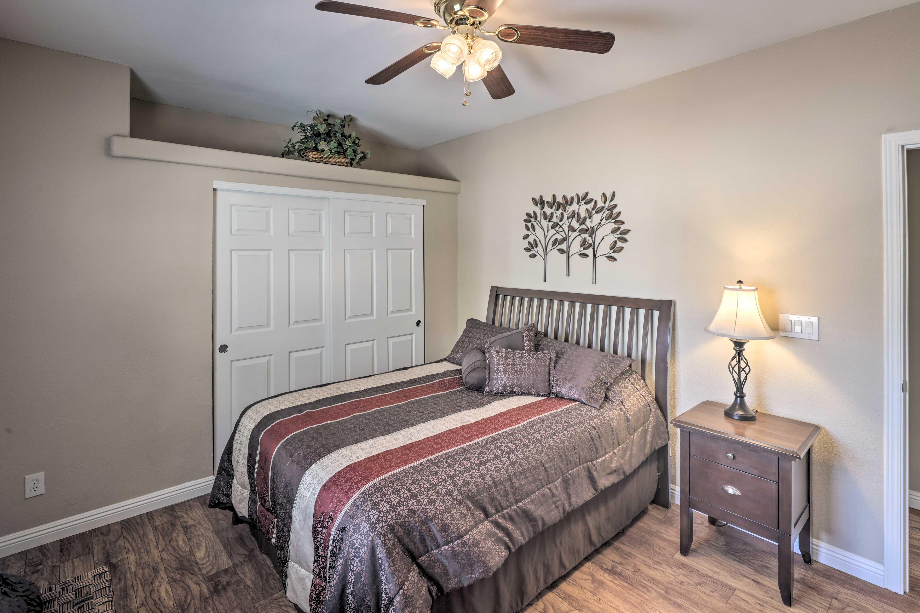 You'll never want to get up from any of the home's comfortable beds!
