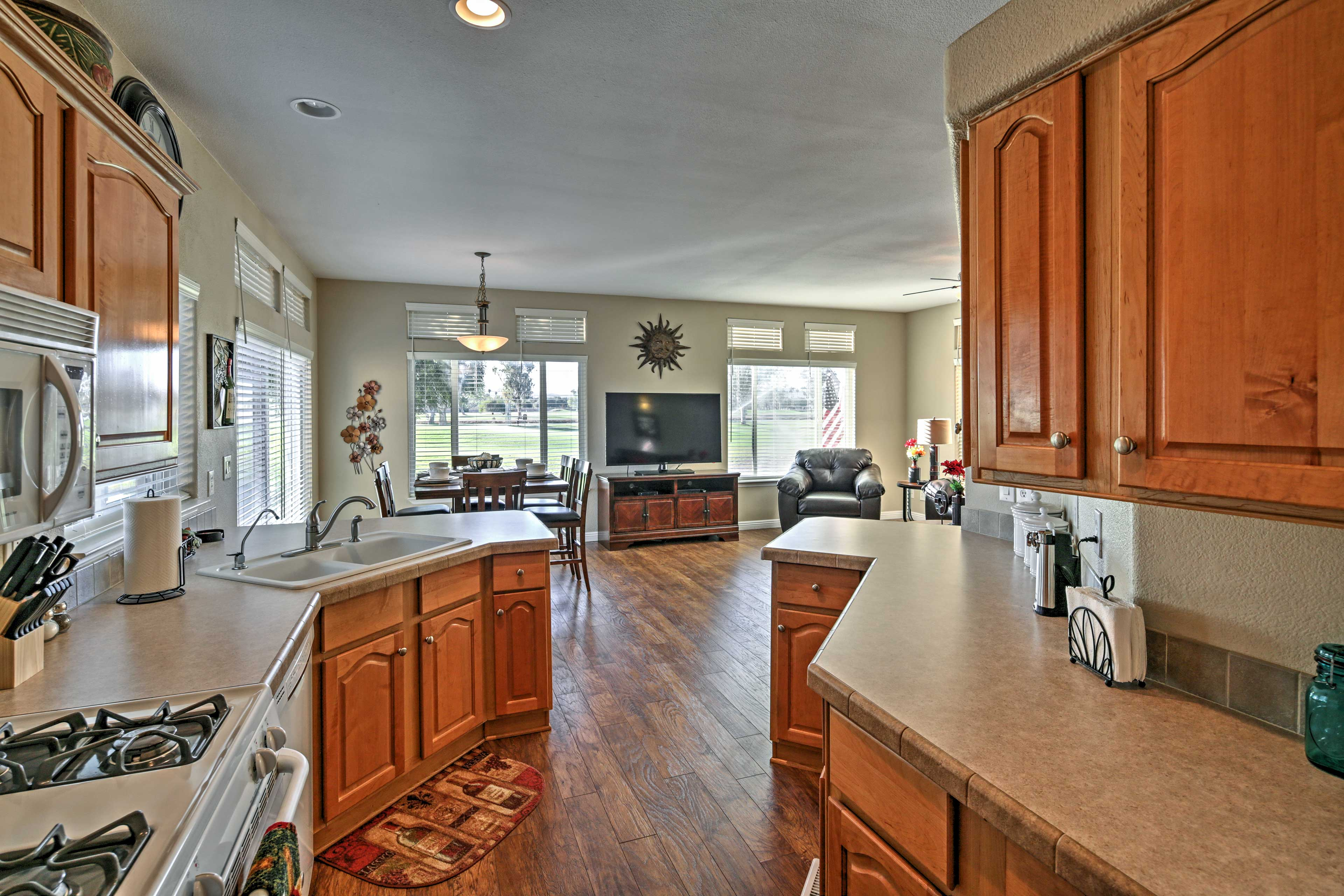 Show off your culinary skills in the fully equipped kitchen.