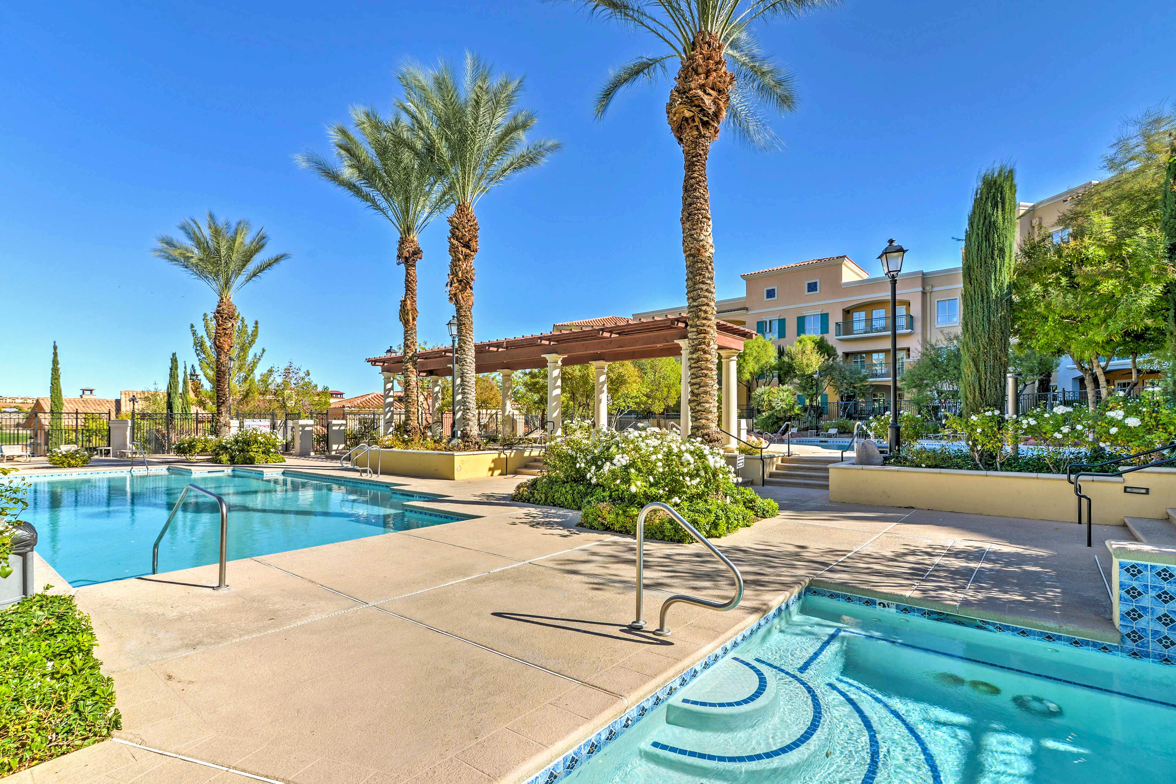 Pick your choice of beautiful pools and hot tubs.