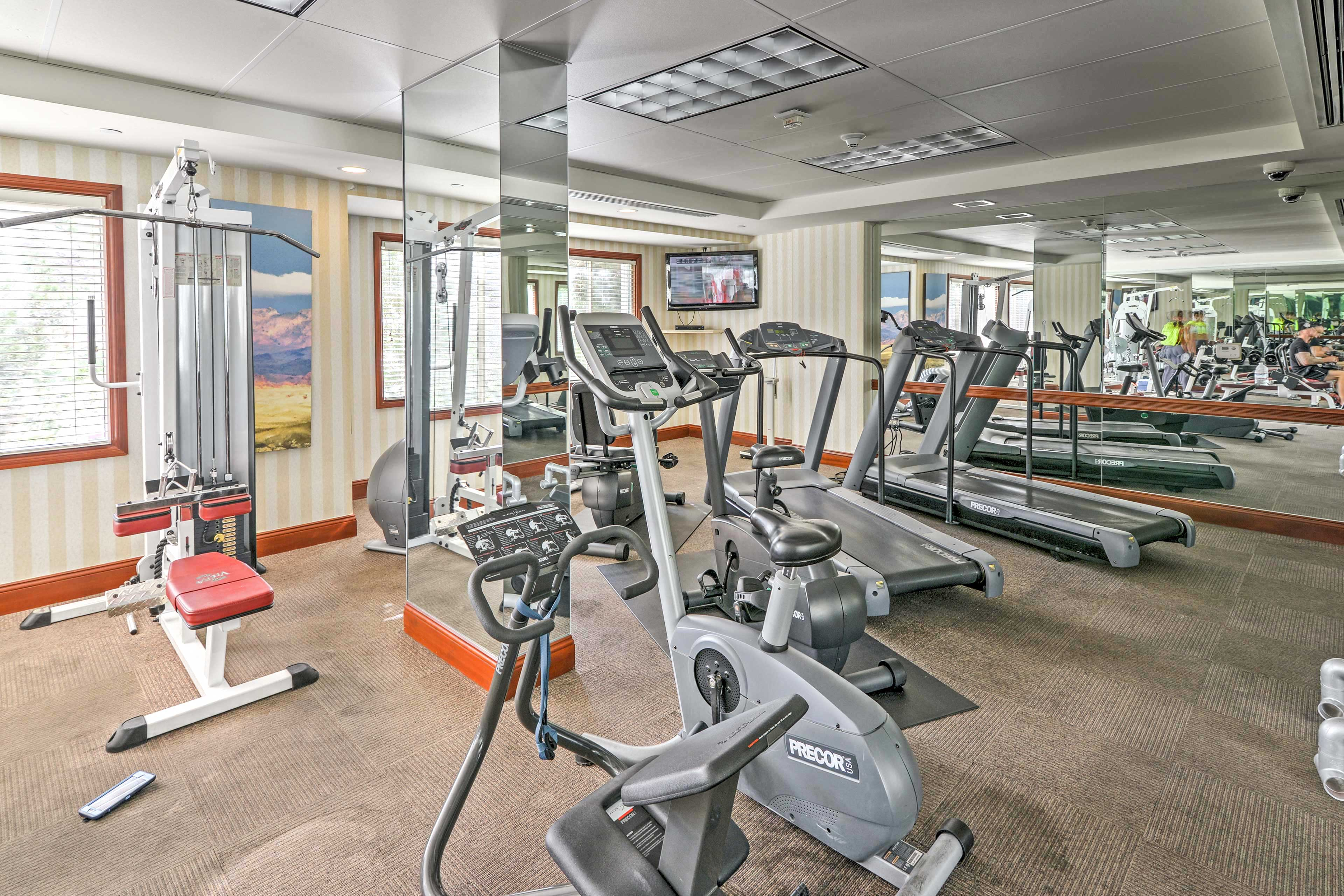 When you want to get active, break a sweat in the resort-style gym.