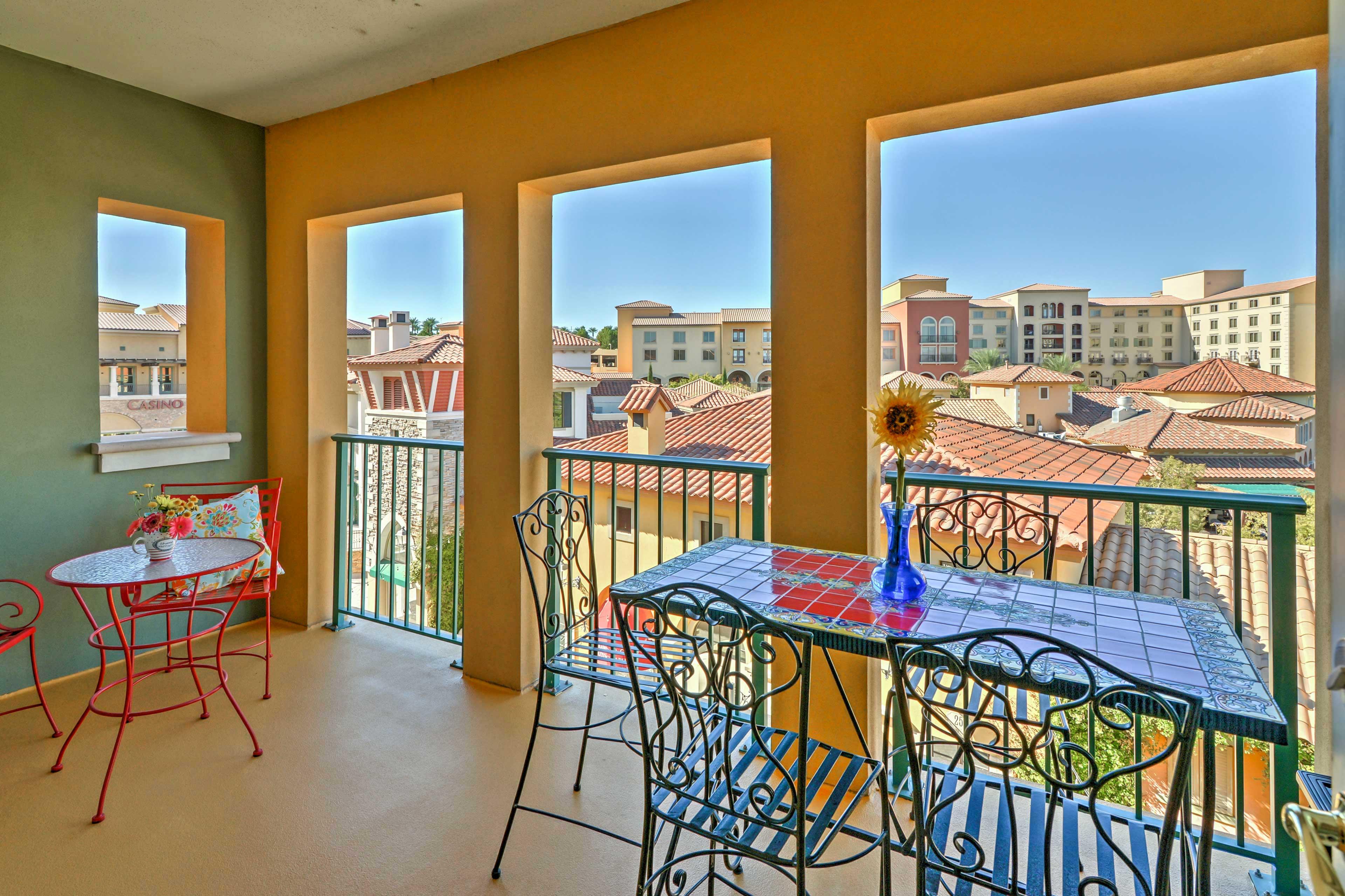 Enjoy Tuscan-inspired surroundings at this Lake Las Vegas vacation rental condo!