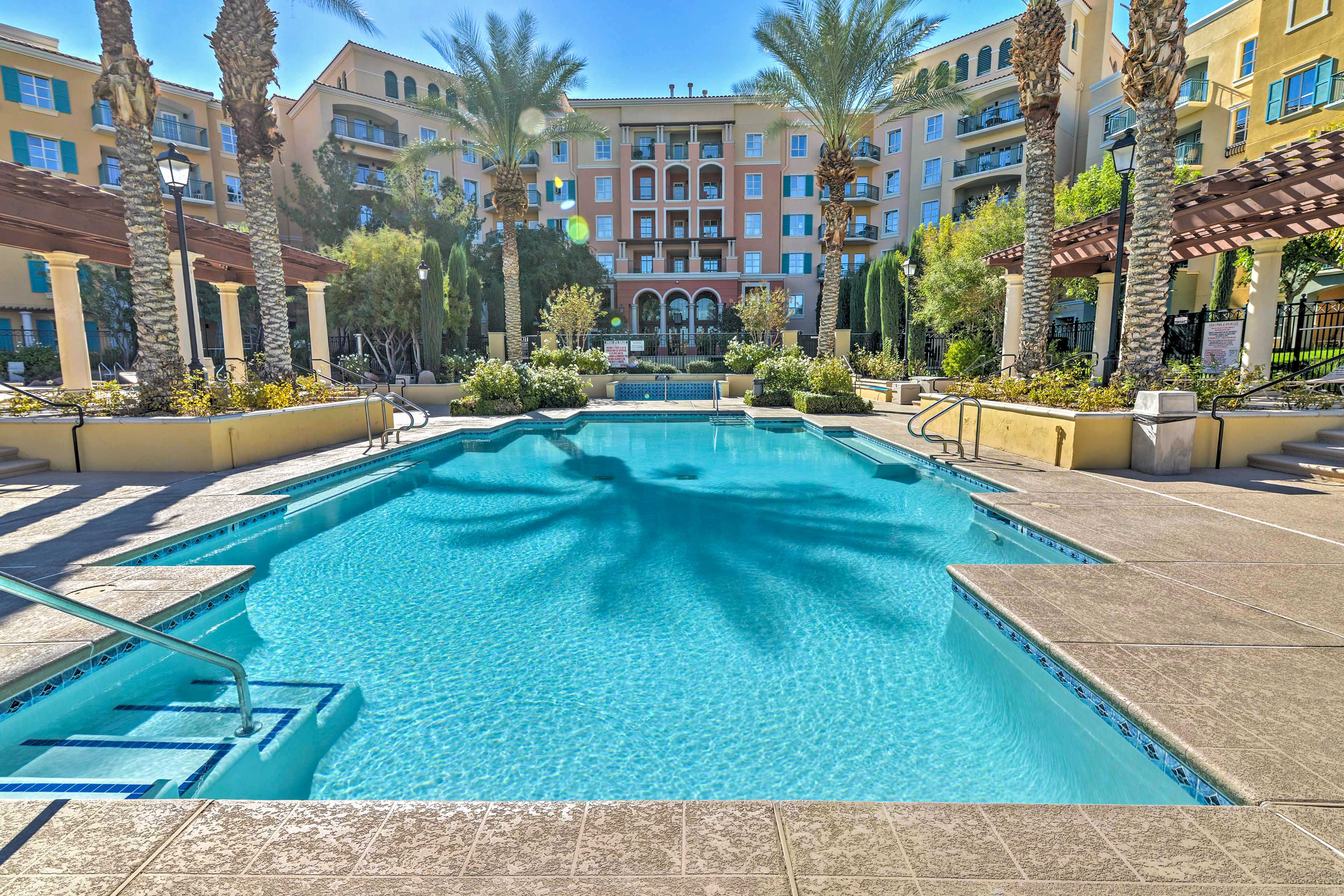 Soak up the Nevada sun by the resort pool!