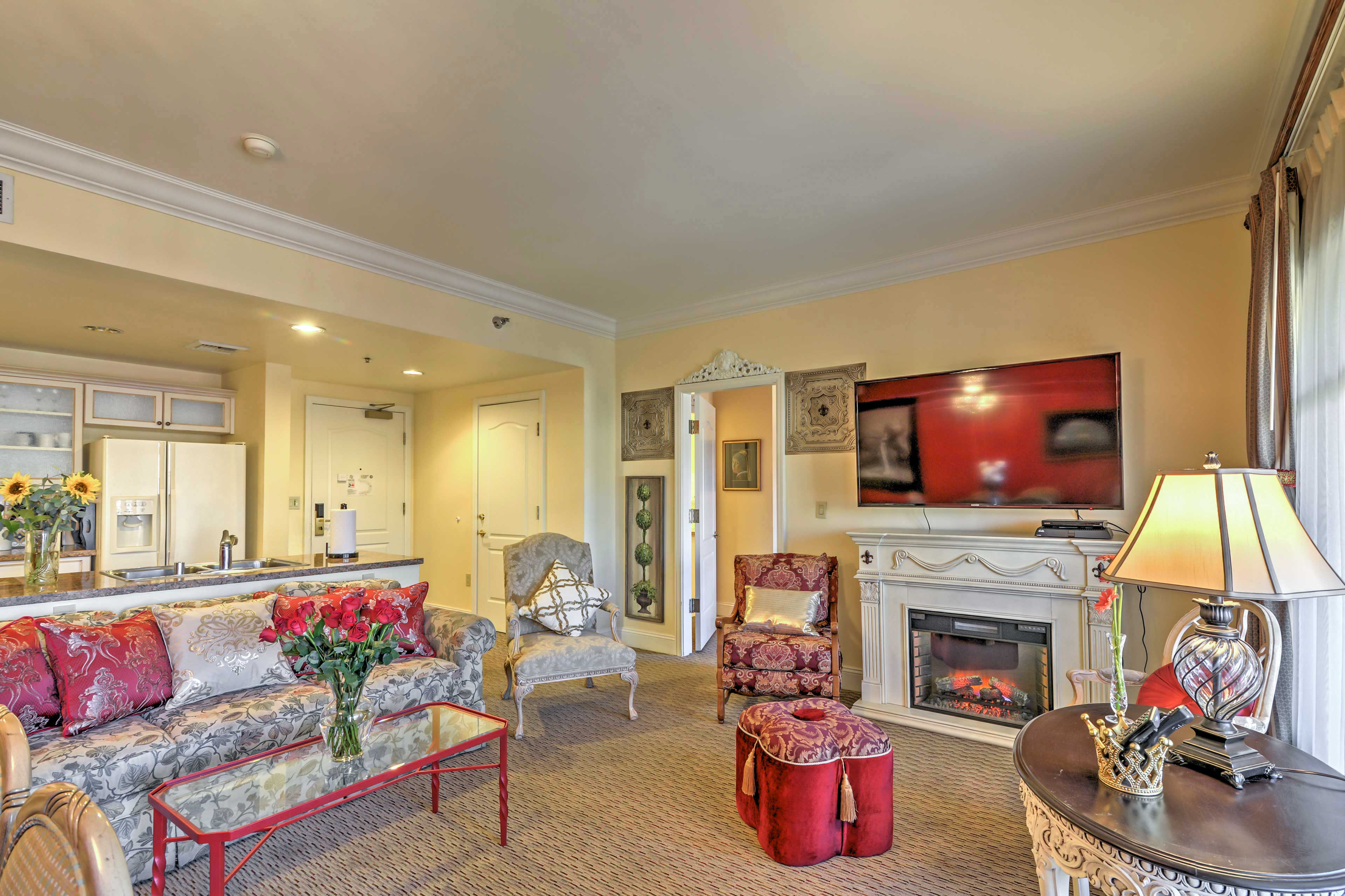 You'll feel right at home inside the inviting living room.