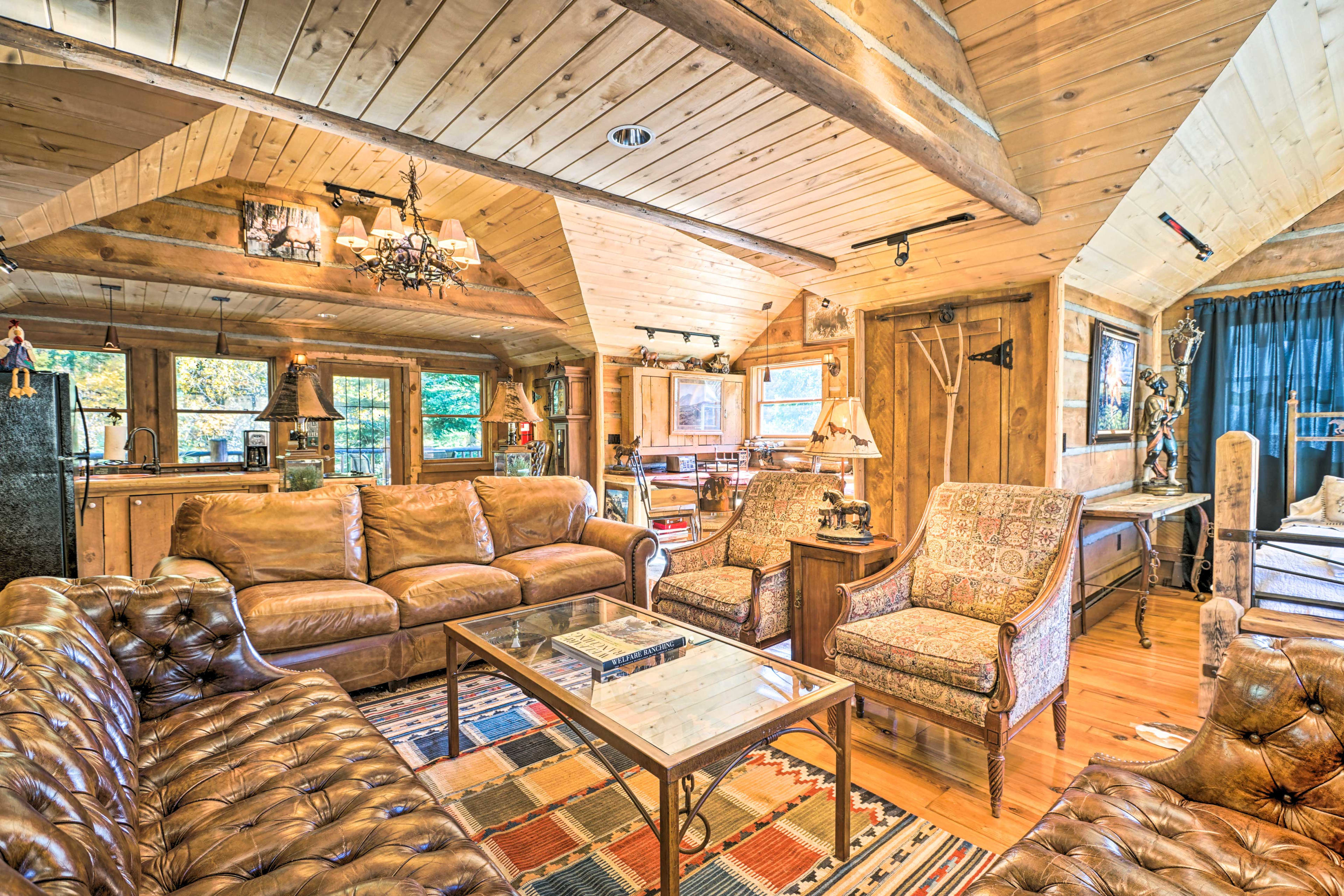 This charming studio is located right on a creek.