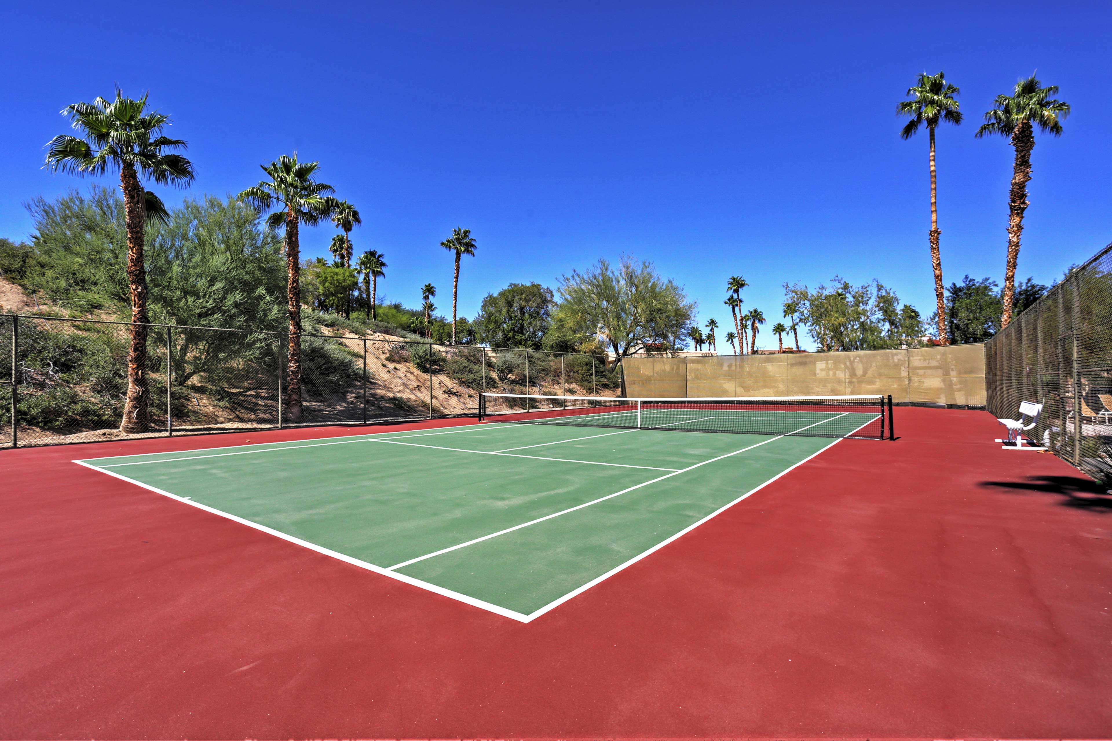 Work up a sweat on the tennis courts!!