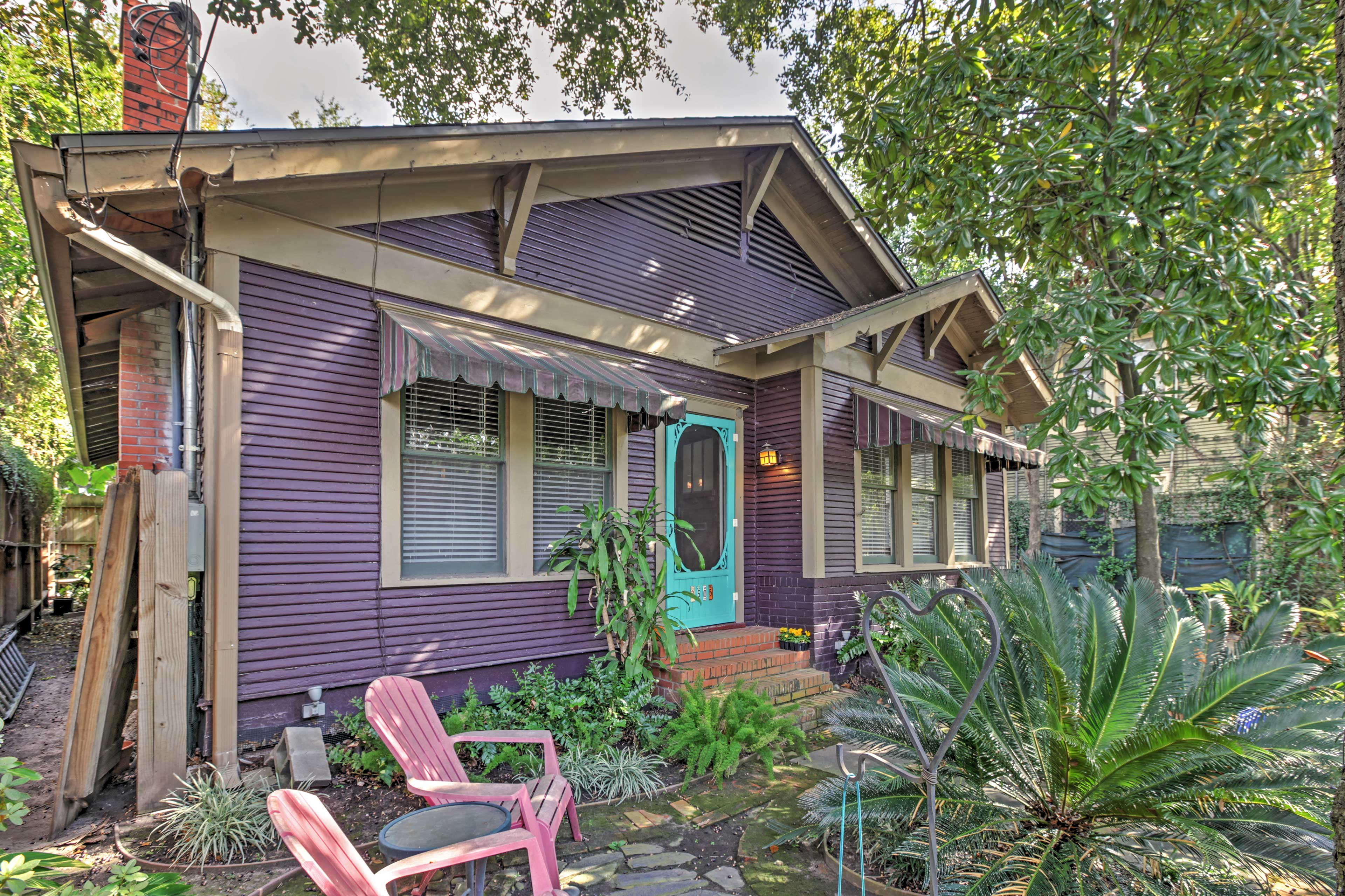 Have the ultimate Texas retreat with this charming Houston vacation rental house.