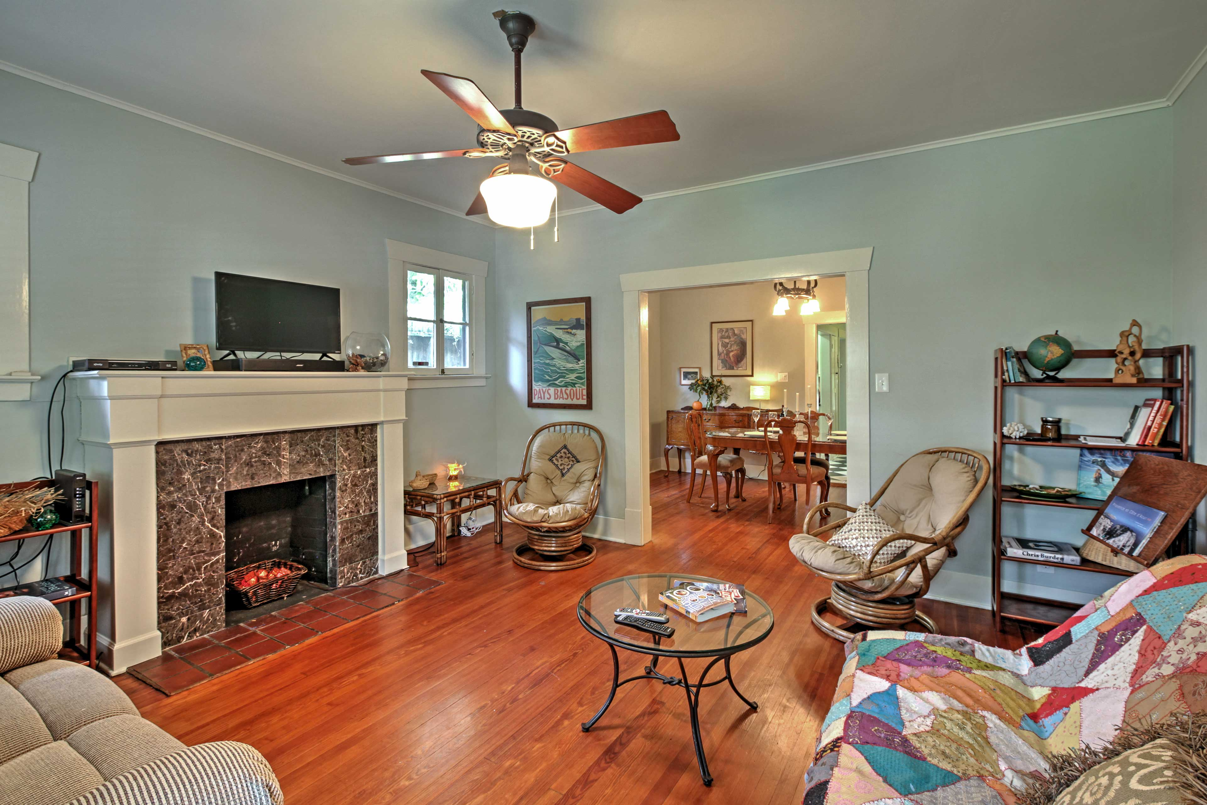 Enjoy the artistically decorated living area, with plenty of space to spread out