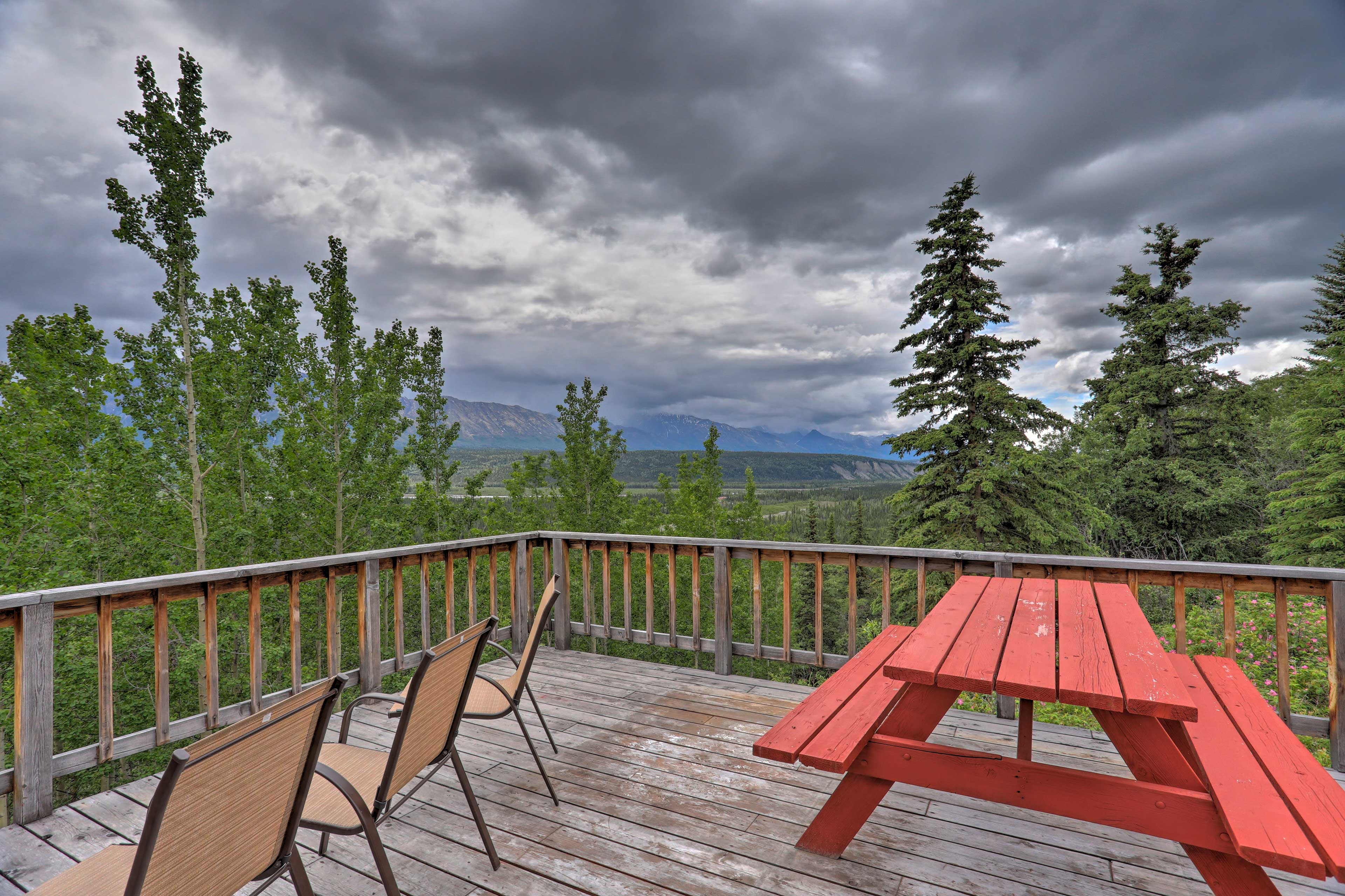Step outside and breathe the fresh mountain air!