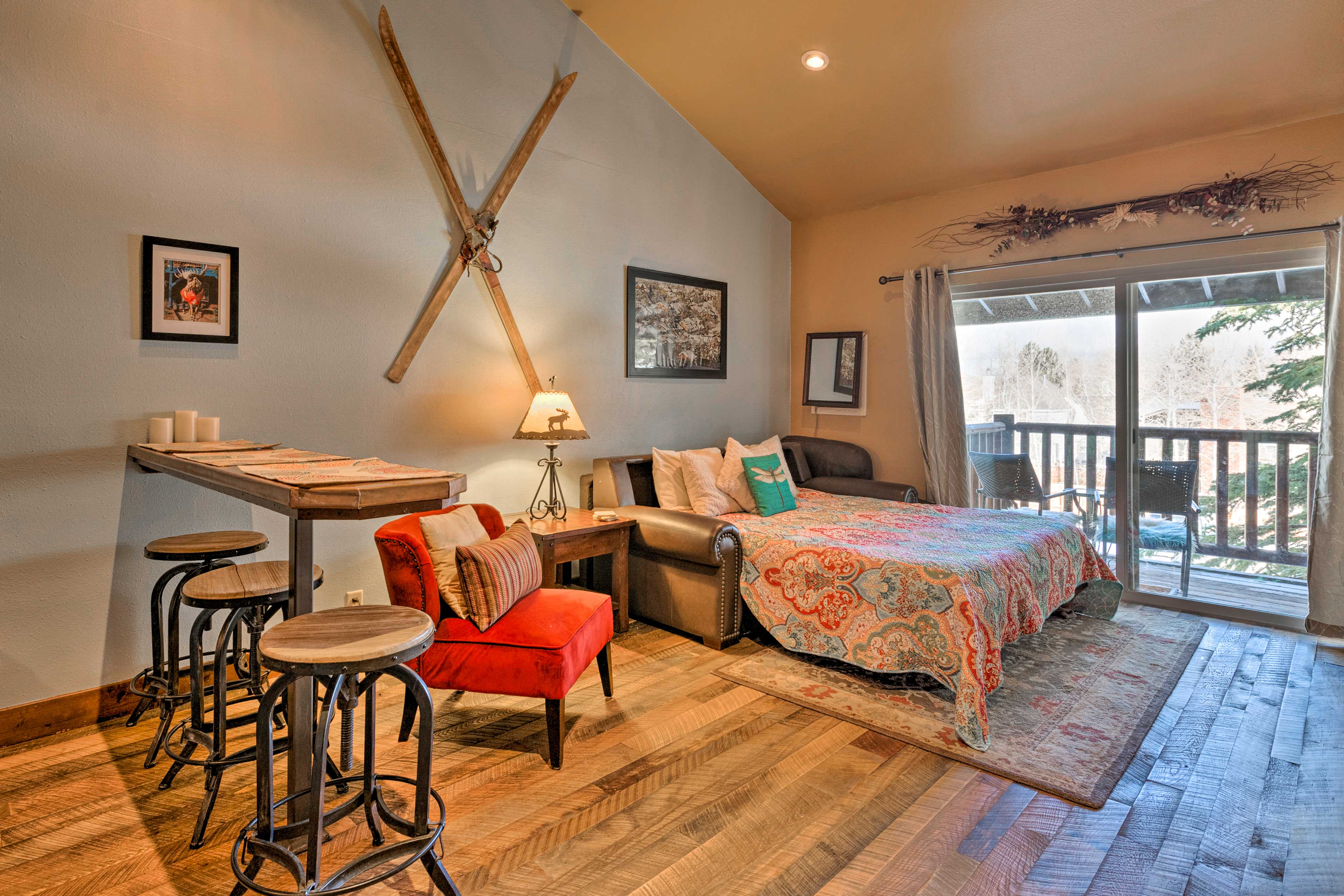 Enjoy the best of Park City from this vacation rental studio.
