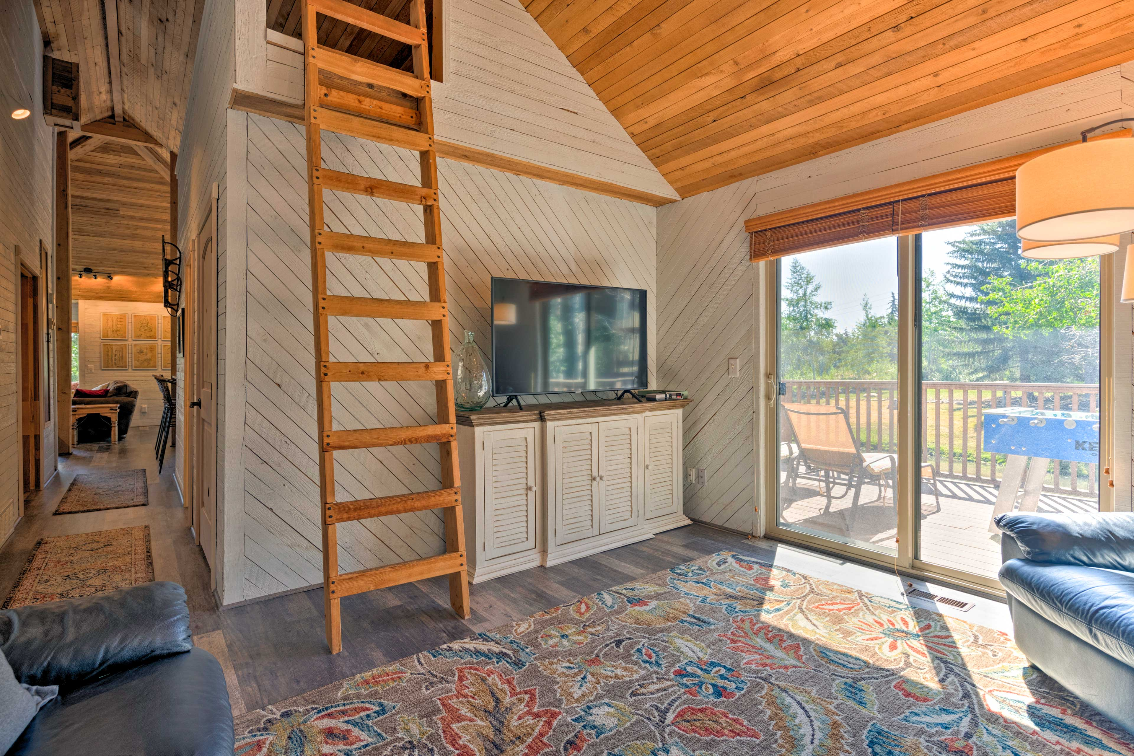 The upstairs living space is great for the kids!