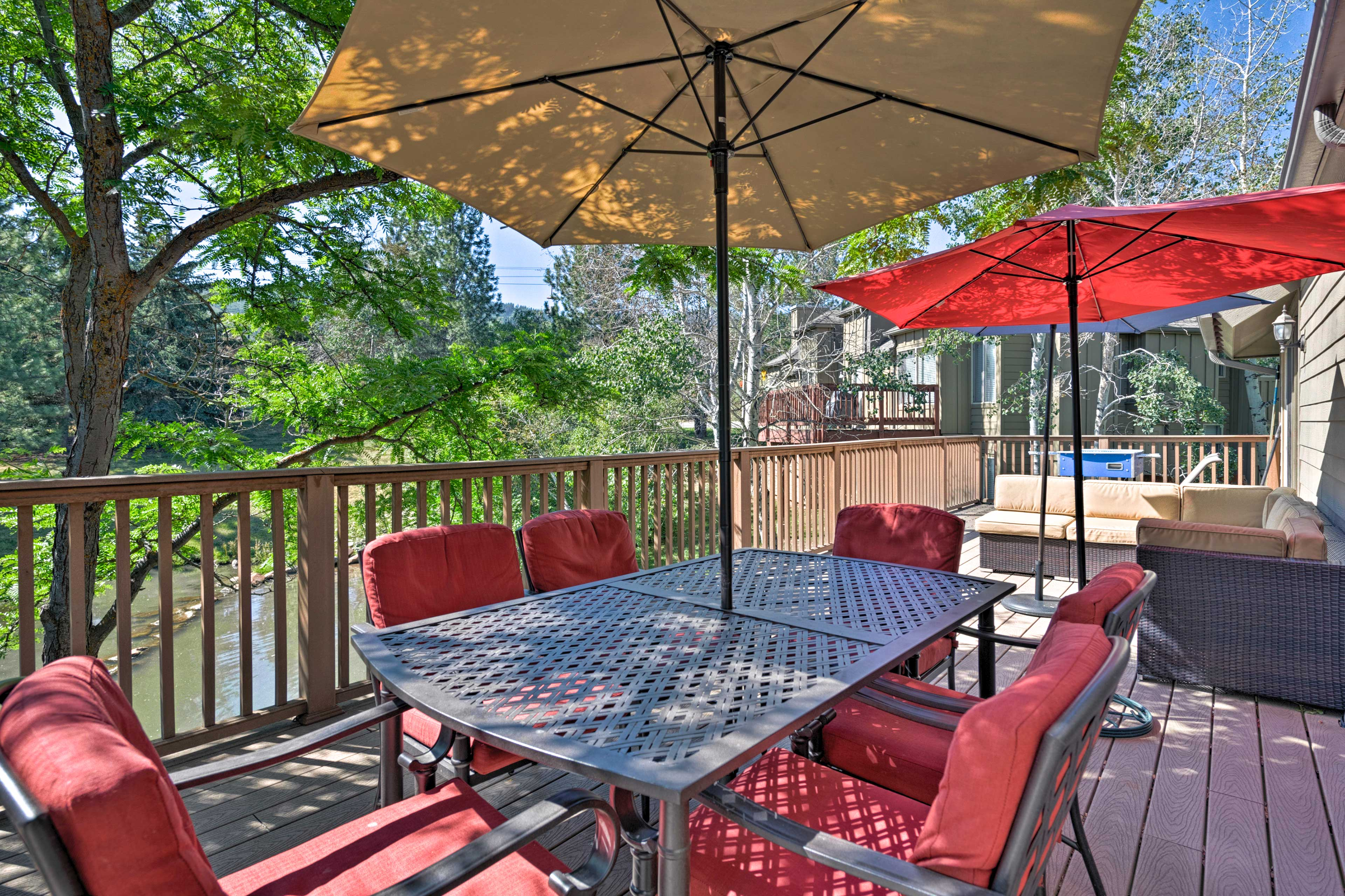 Enjoy the serene views while you relax on the expansive deck!