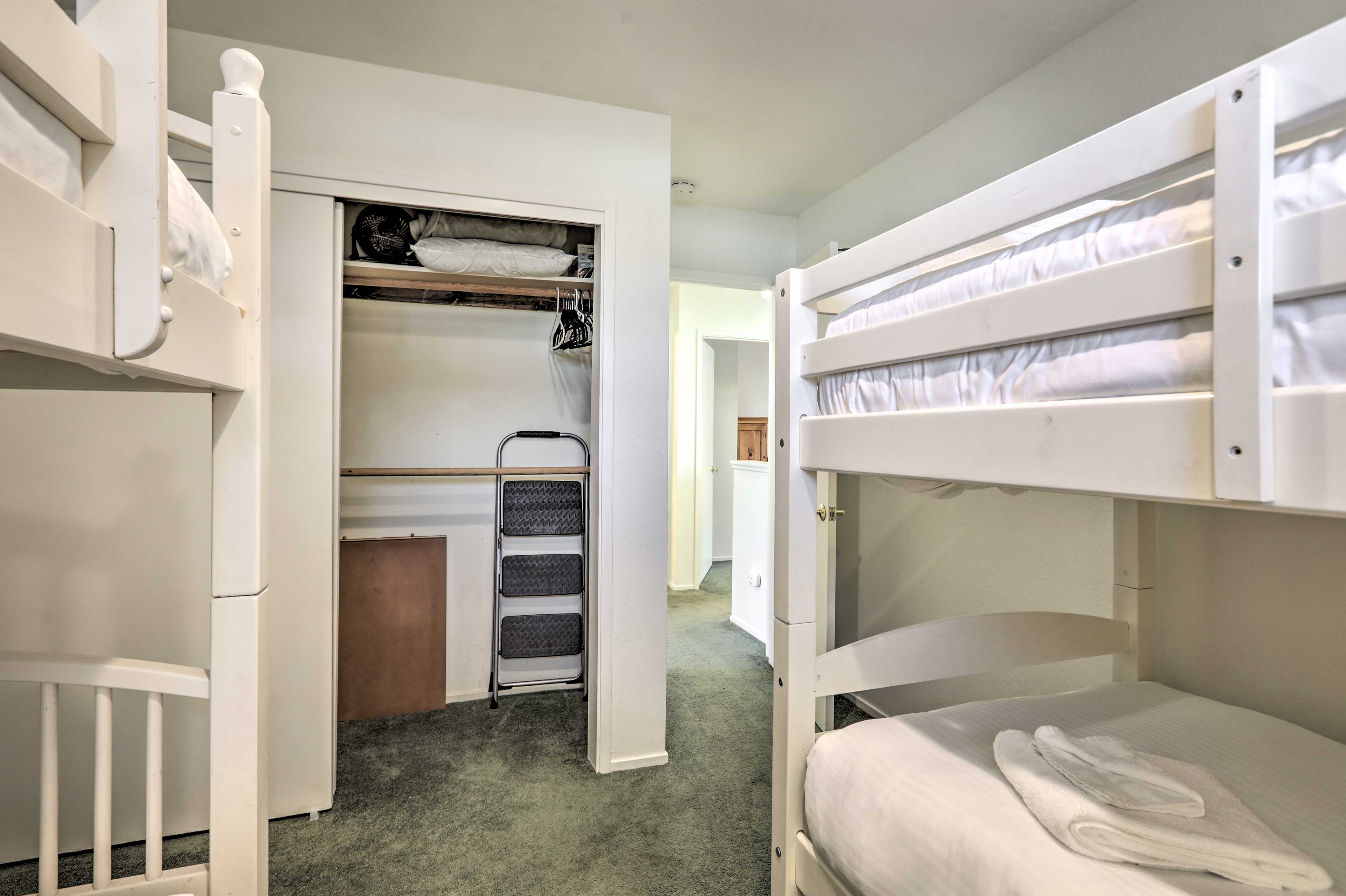The bunk room is ideal for the kids!