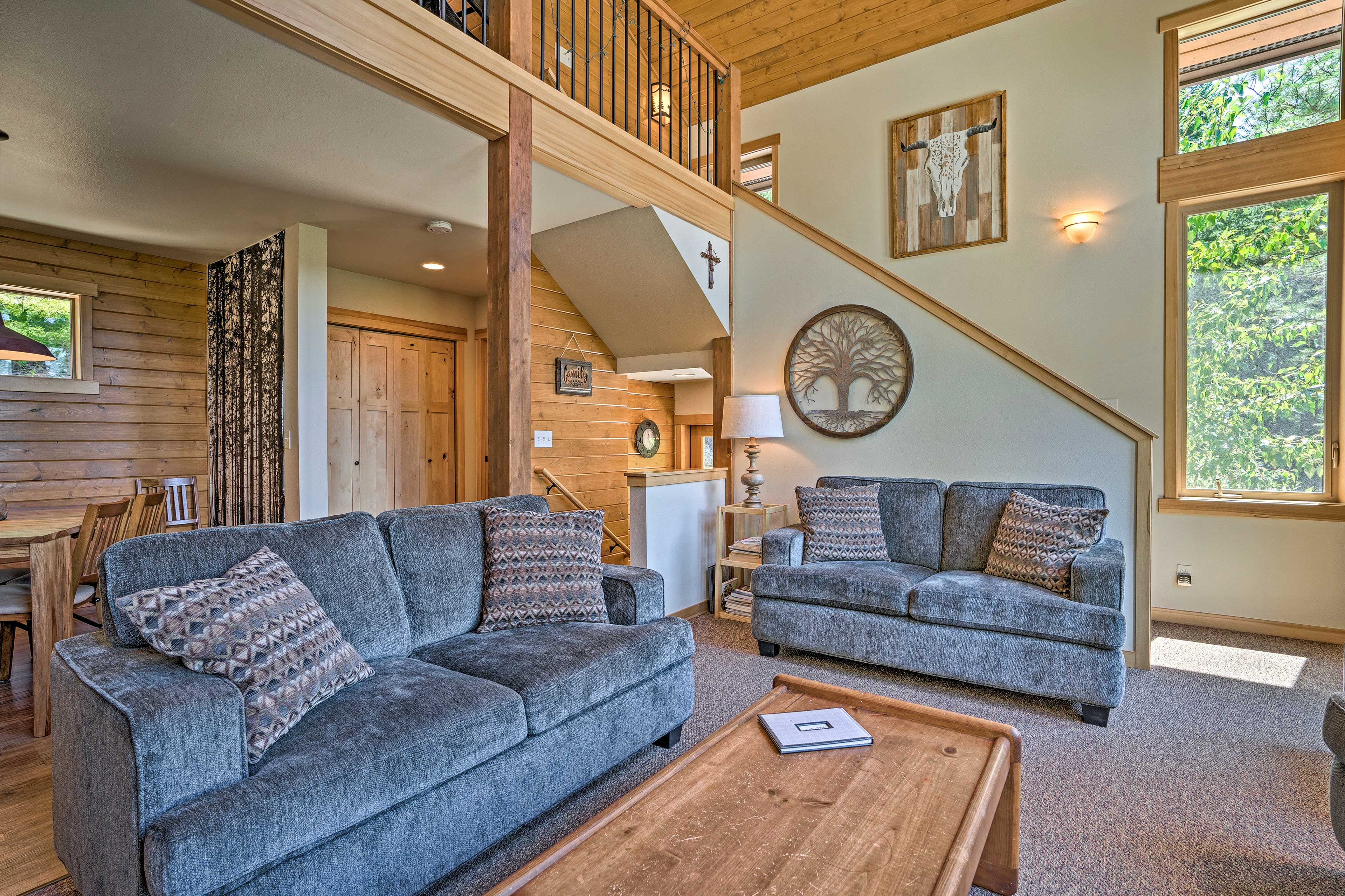You'll love the open layout of the living room.