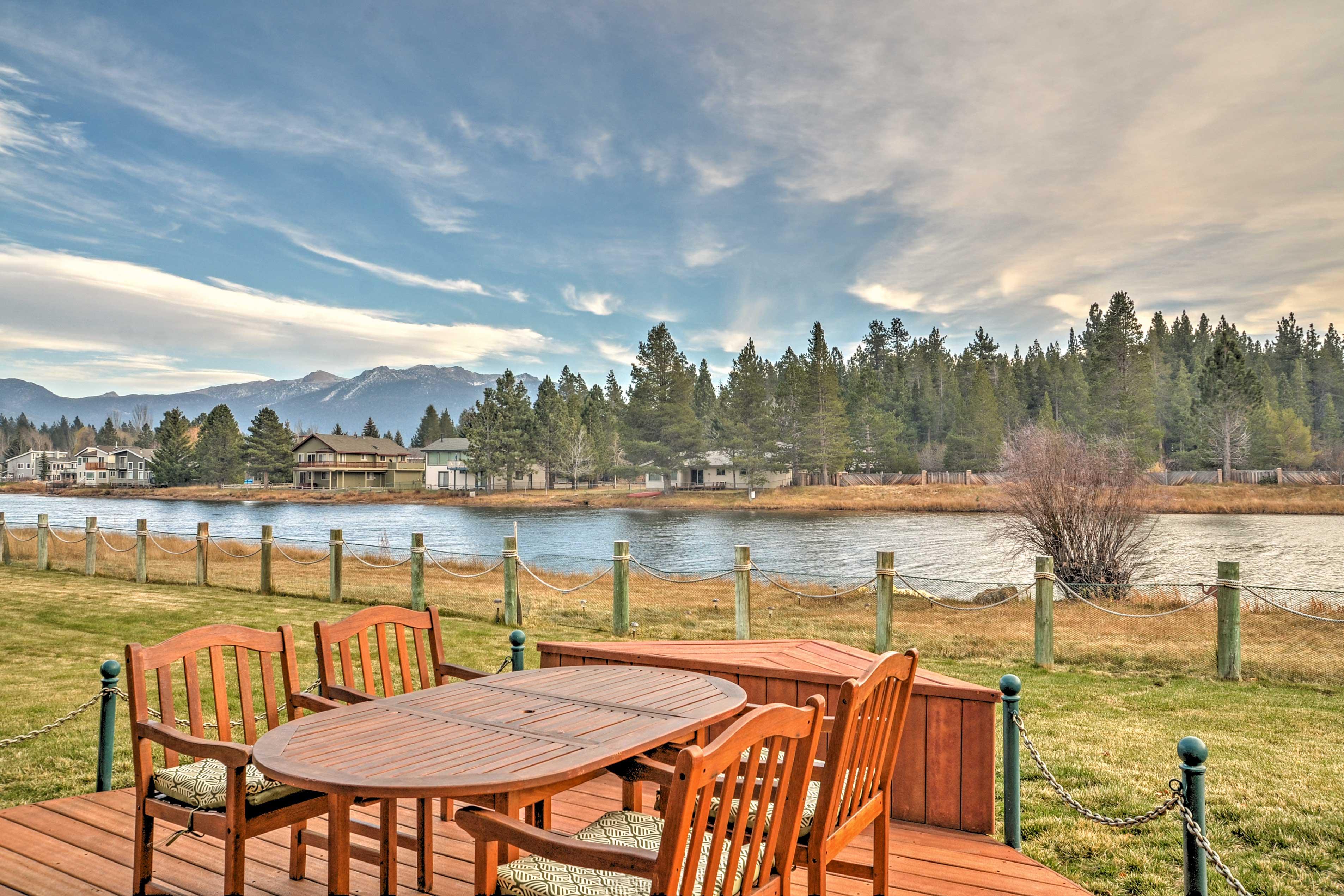 Stunning scenery awaits around every corner at this South Lake Tahoe home.
