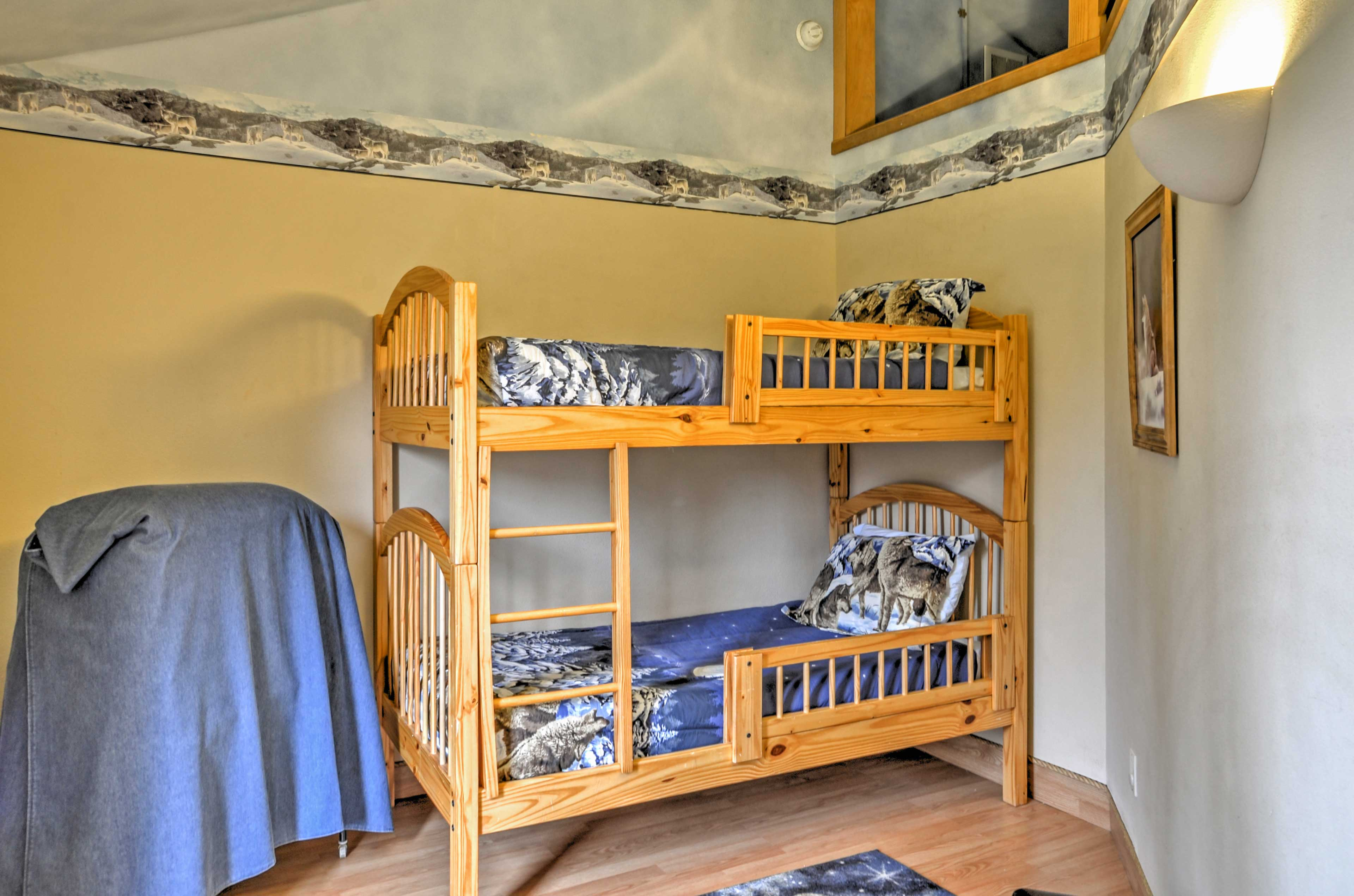 The kids will love the bunk room!