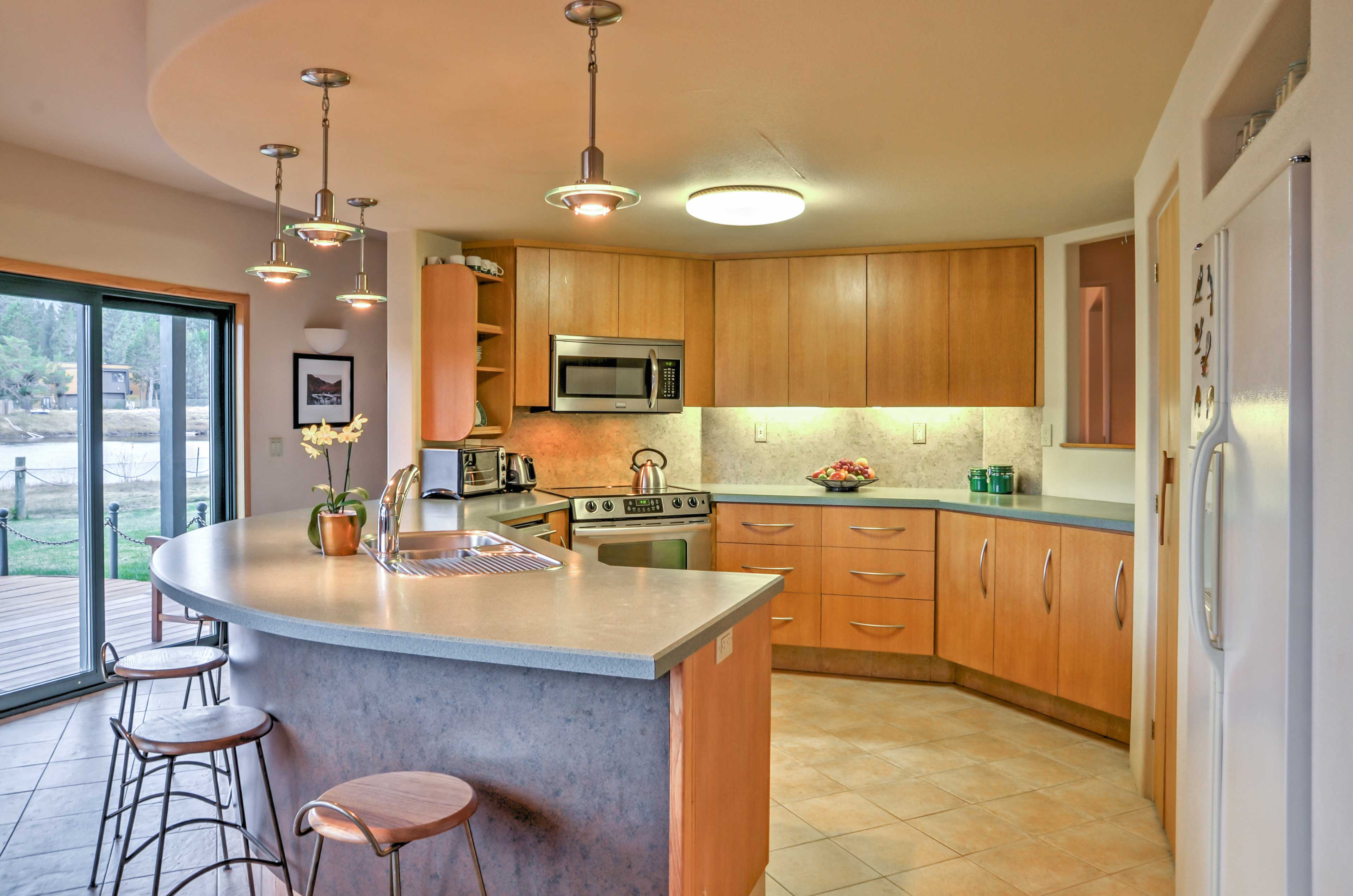 The kitchen is fully equipped with everything you'll need to create one-of-a-kind meals.