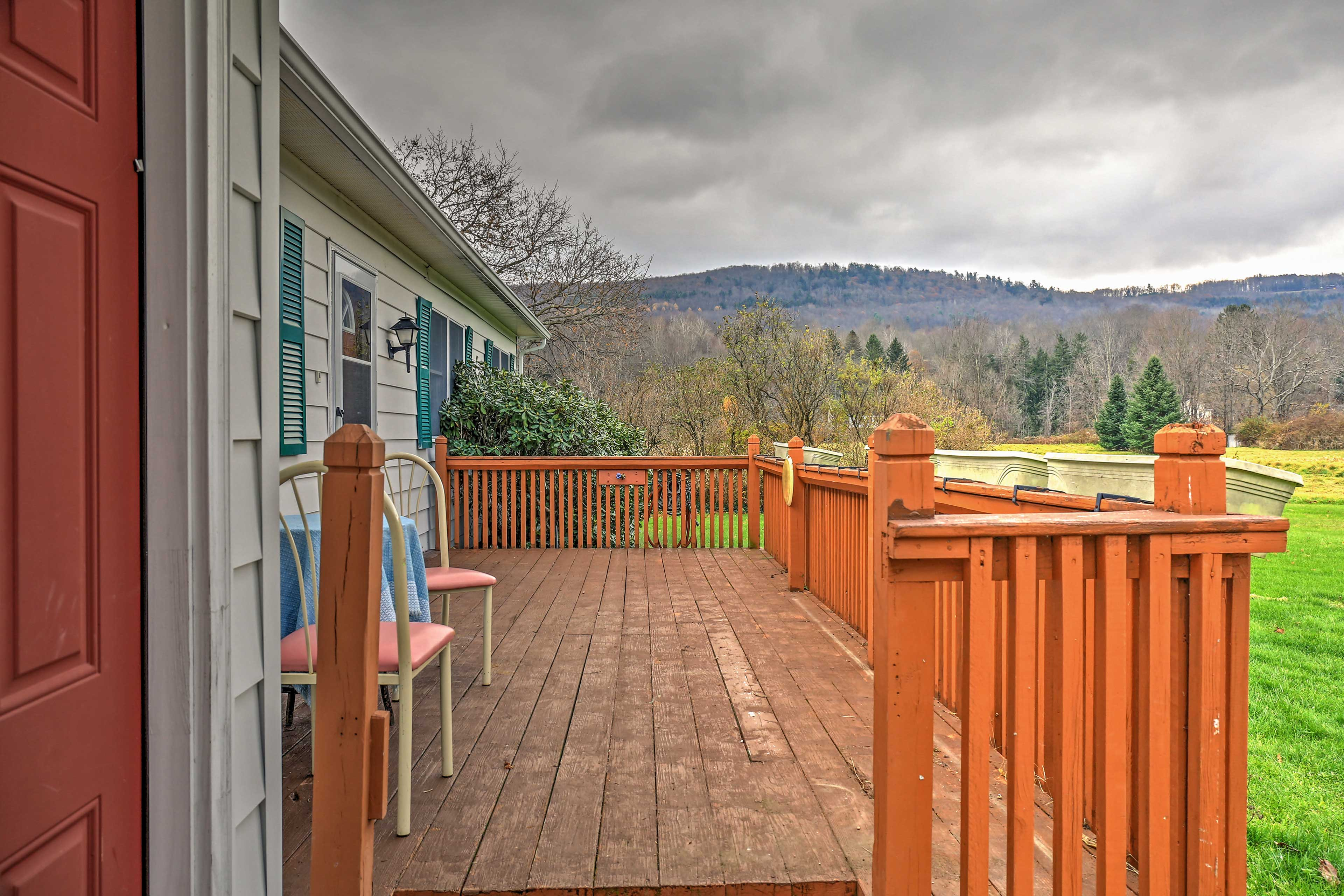 Look forward to sipping your morning coffee on the spacious deck.