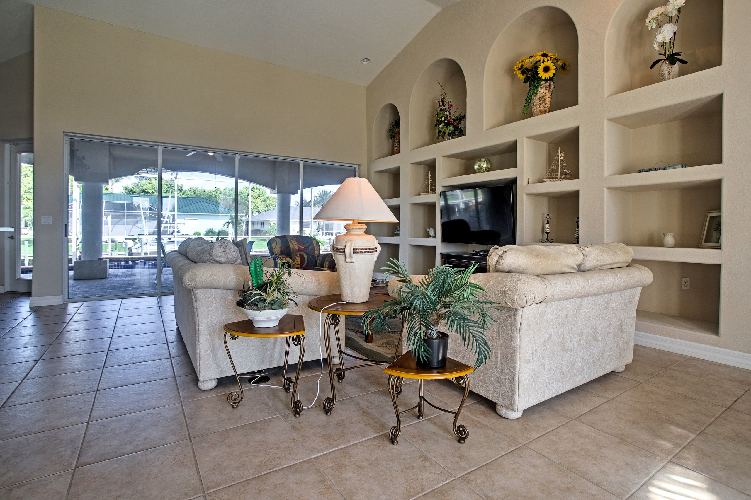 With an abundance of large windows, this home is bright and inviting.