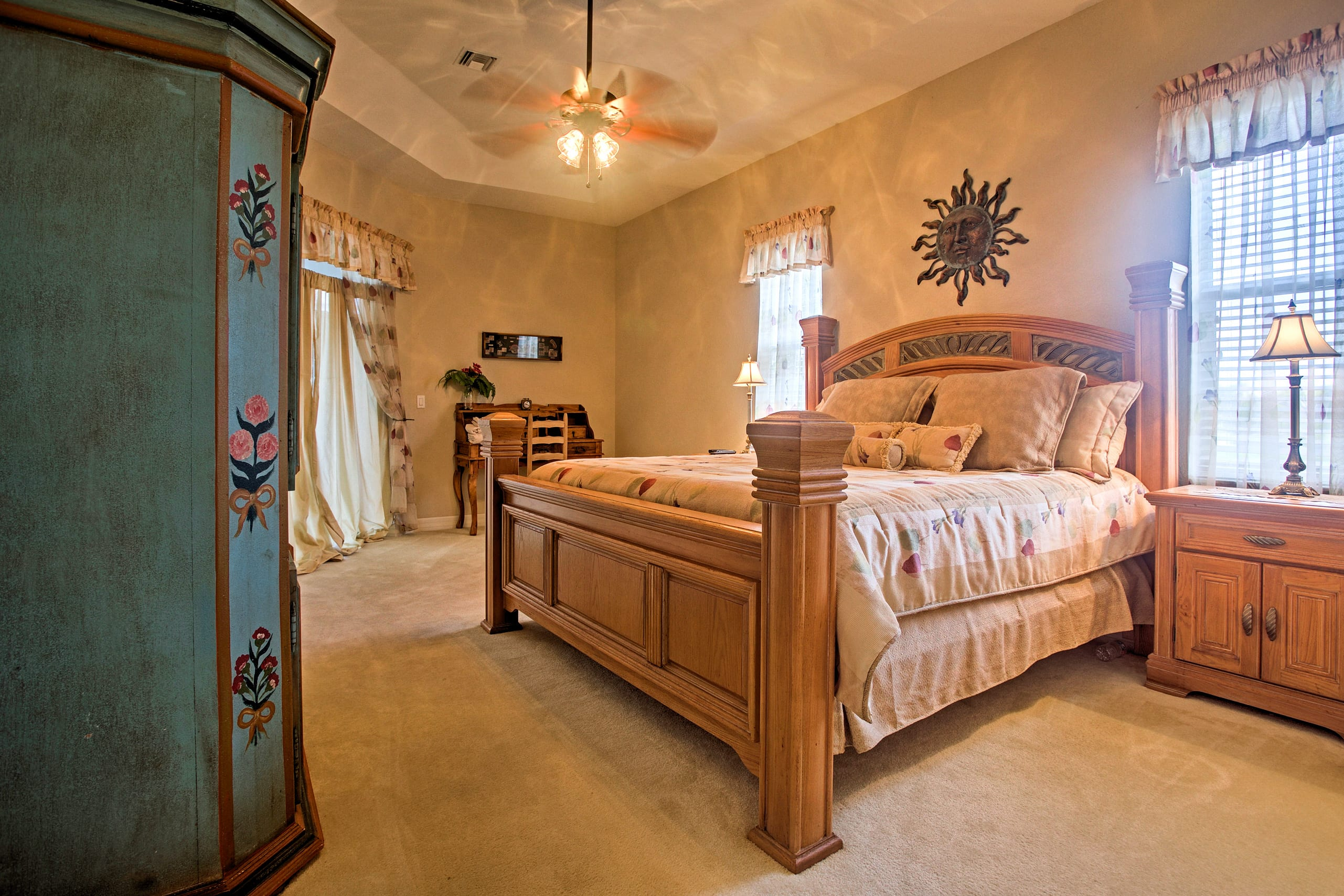 The master bedroom features an en-suite bathroom and cloud-like king bed.