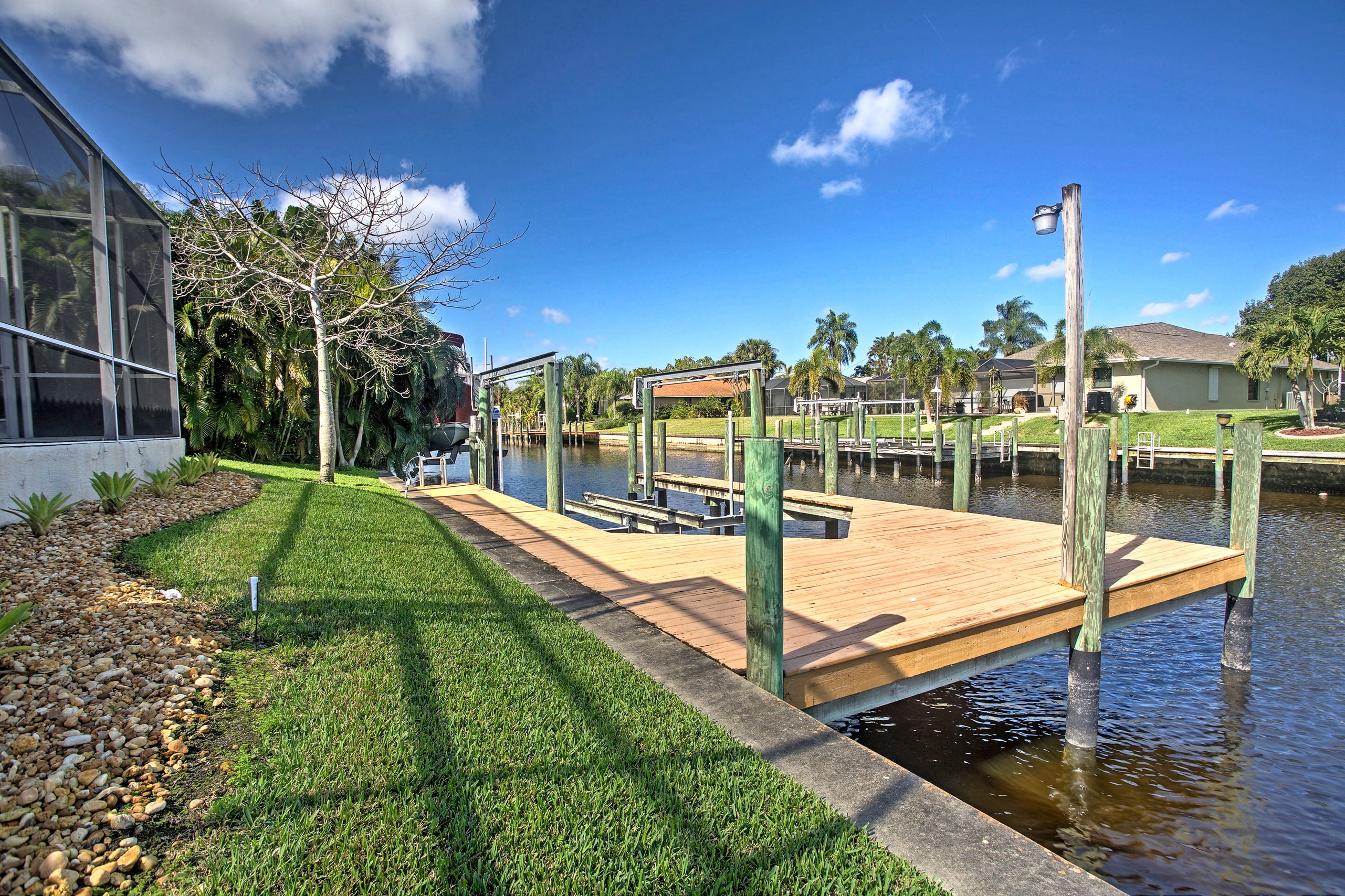Another fabulous feature of this home is the full dock with a boat lift.