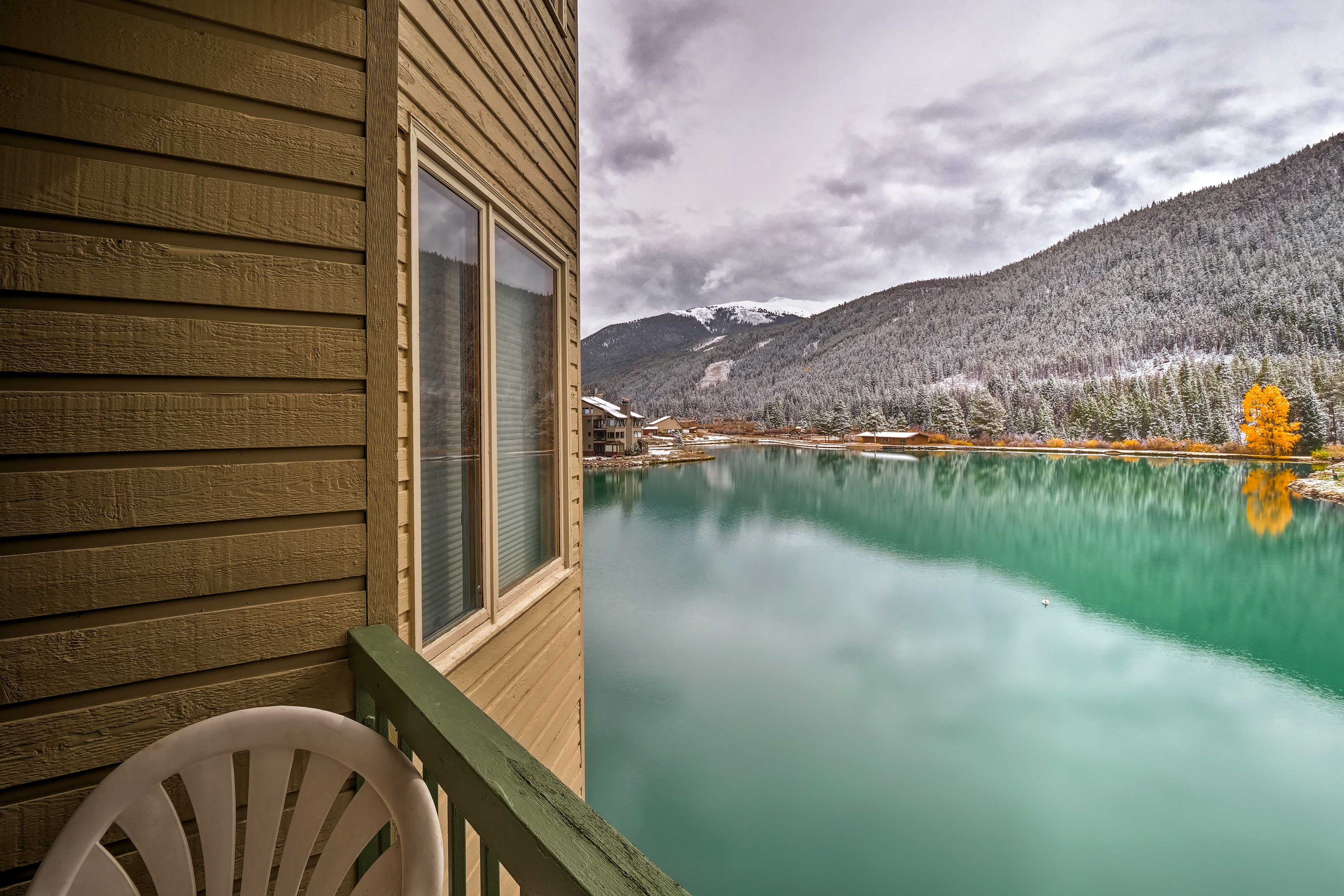 Enjoy spectacular views of the surrounding scenery from the private balcony.