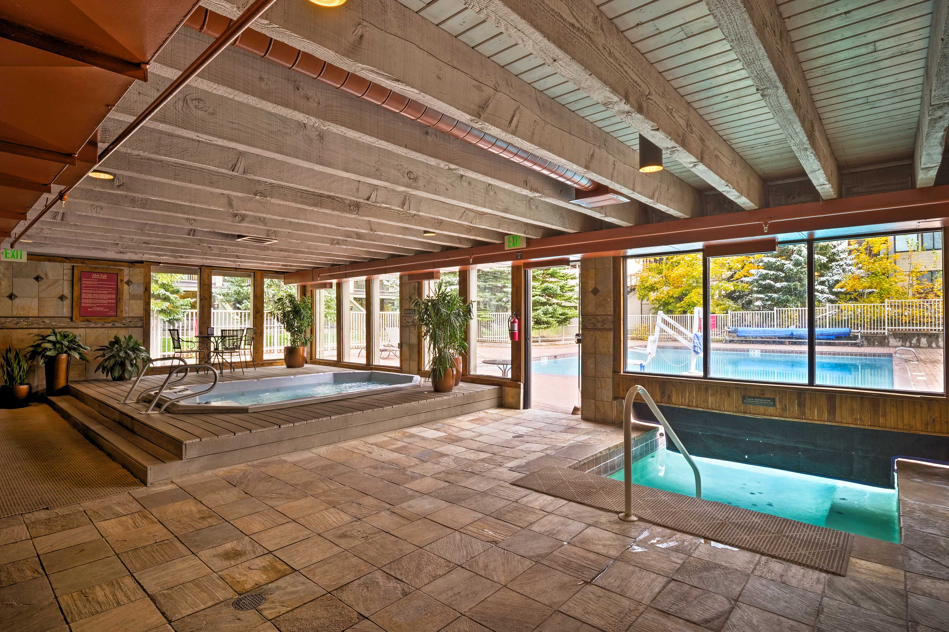 Spend those lazy days relaxing by the pool and hot tub.