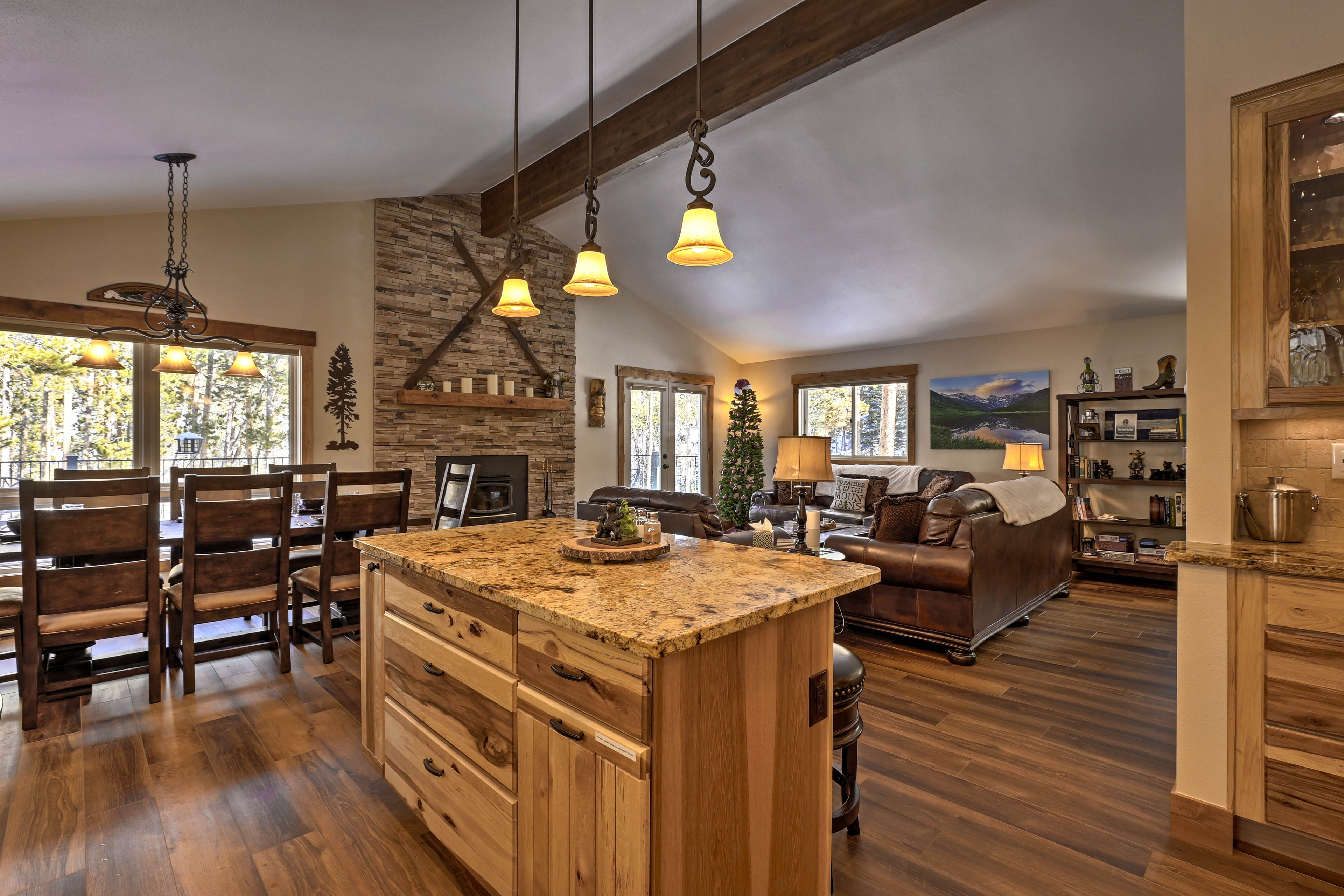 The open floor plan allows each room to work seamlessly together.
