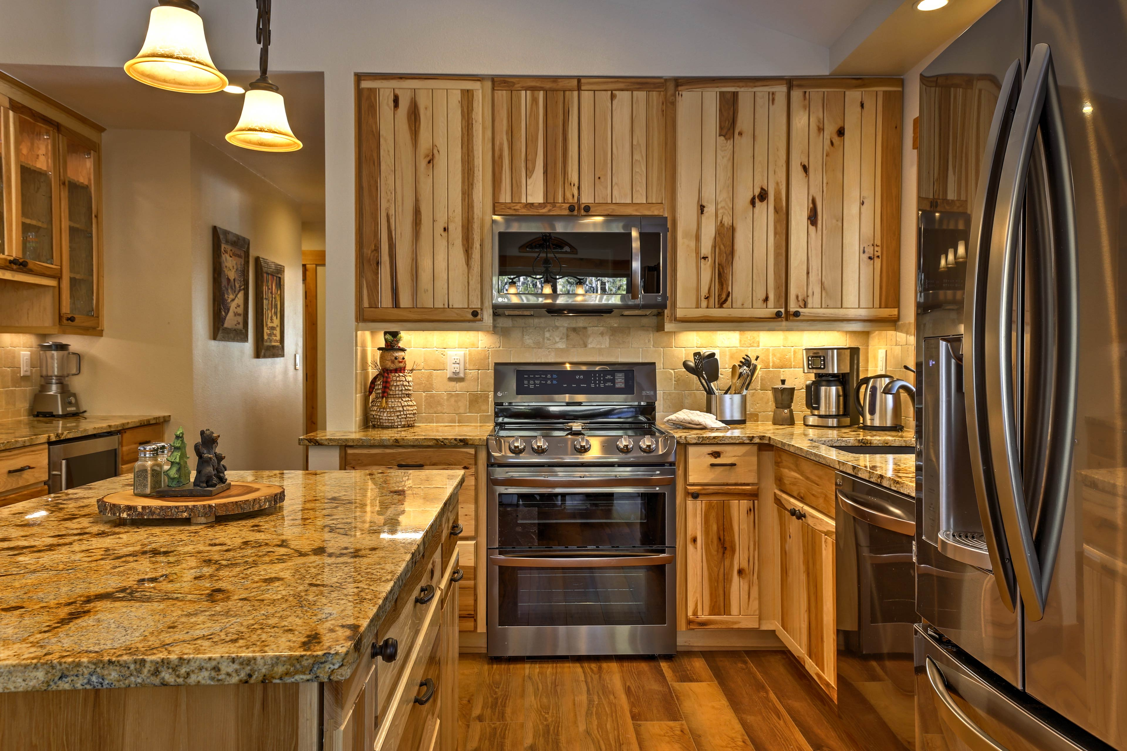 Fully equipped kitchen is ready for your resident chef to whip up a tasty meal.