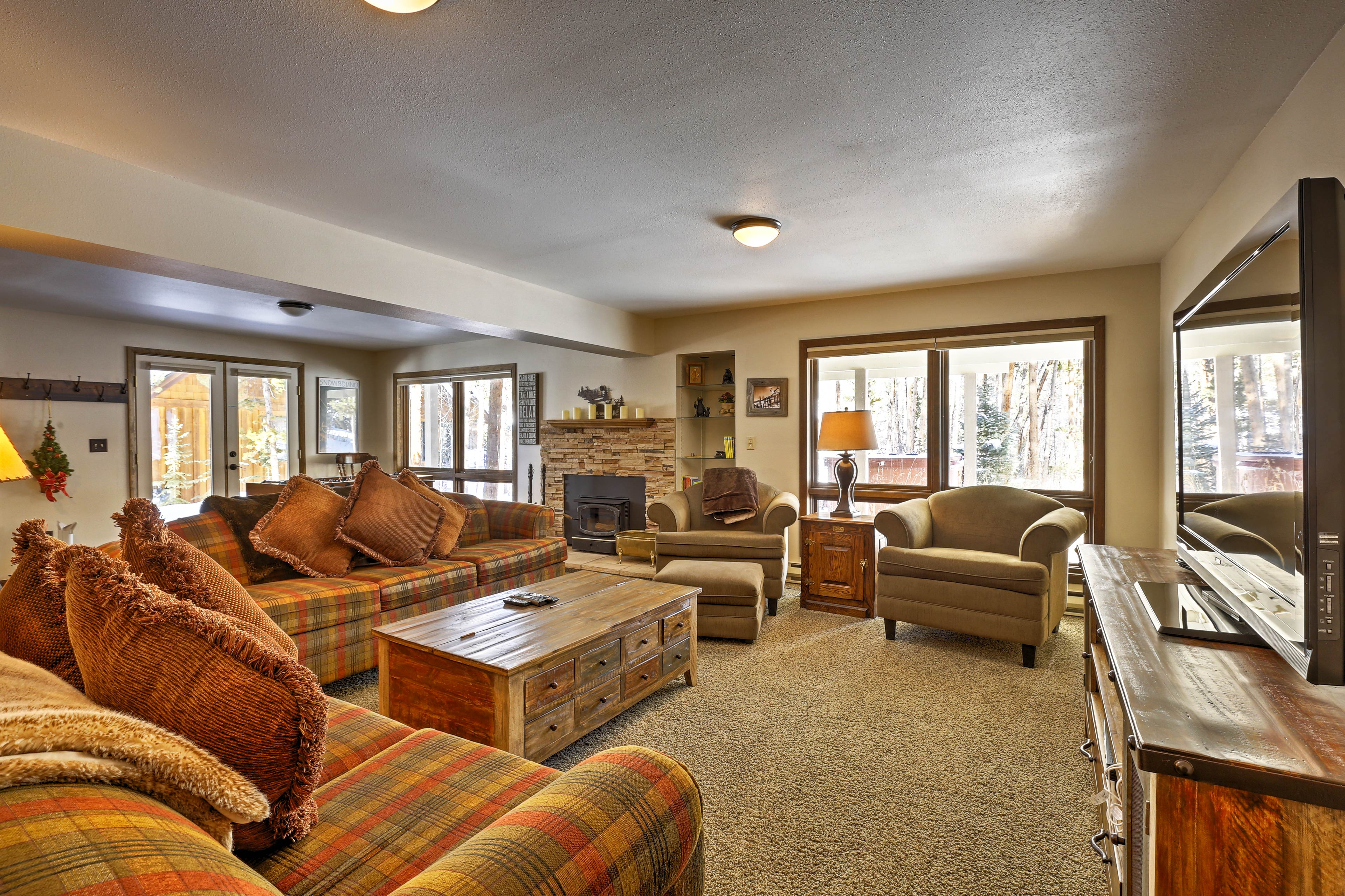 The second living area is the perfect place to entertain friends.