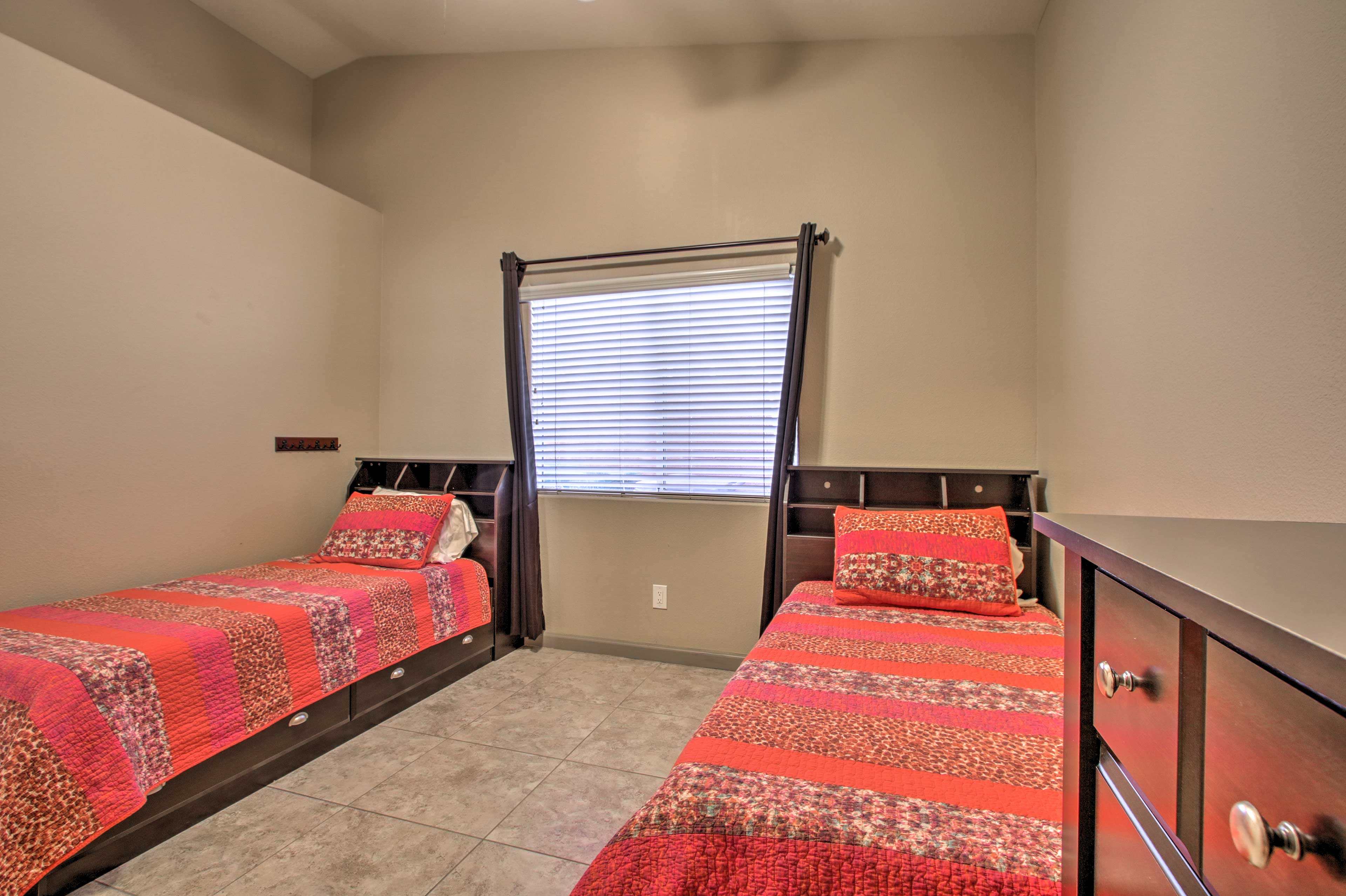 The 3rd bedroom is perfect for the kids.