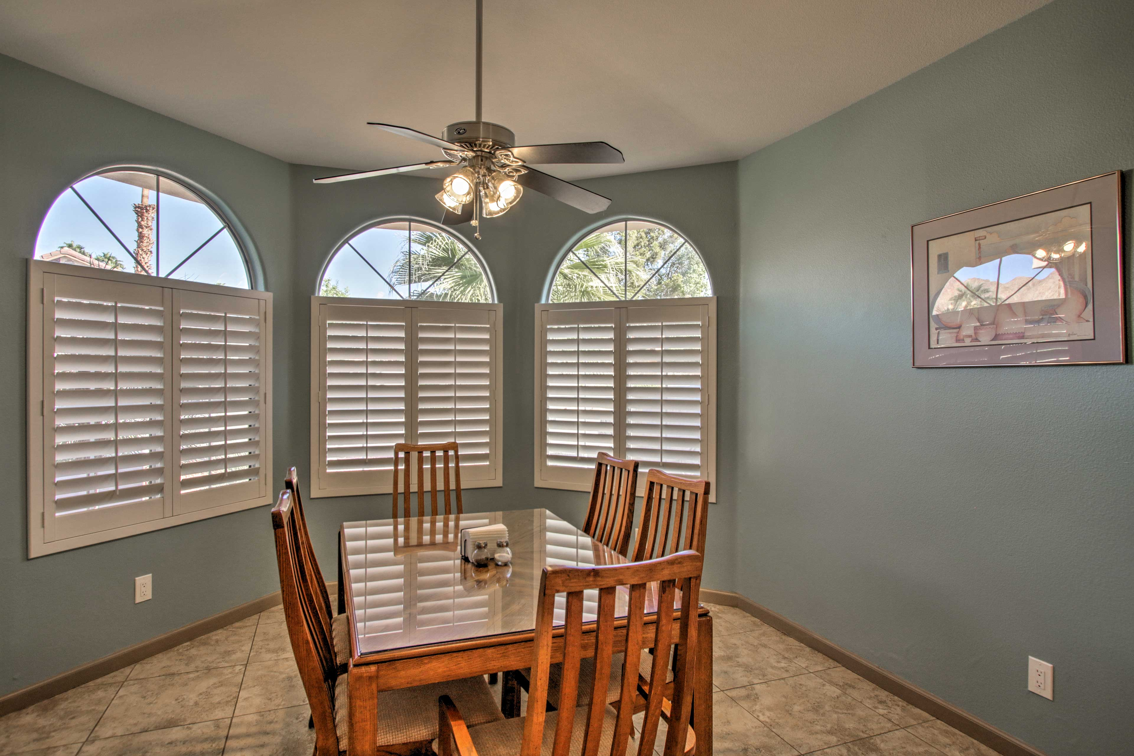 Keep the cook company while hanging out in the quaint breakfast nook.