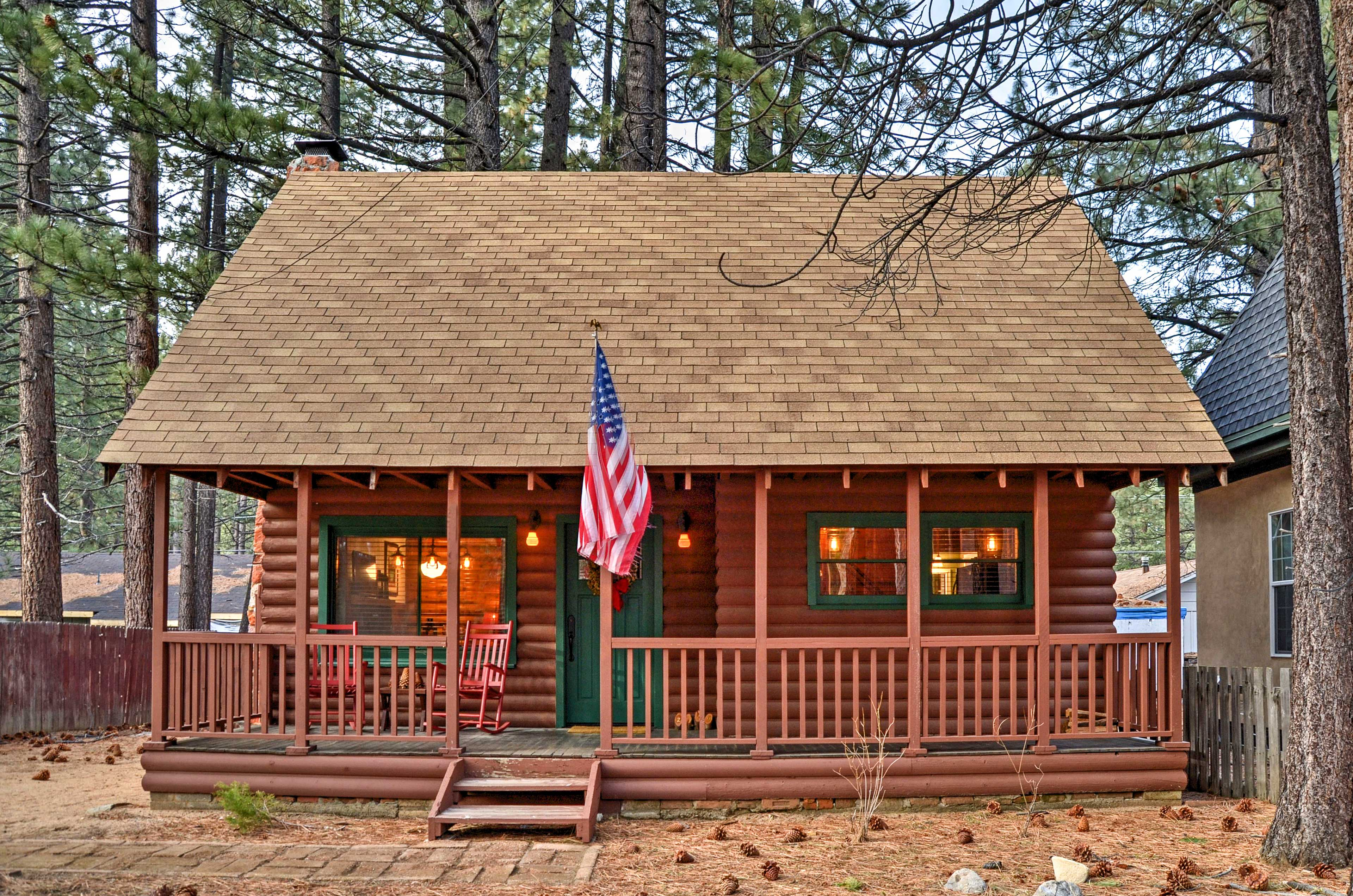 Have the ultimate Cali retreat with this 2BR S Lake Tahoe vacation rental cabin.