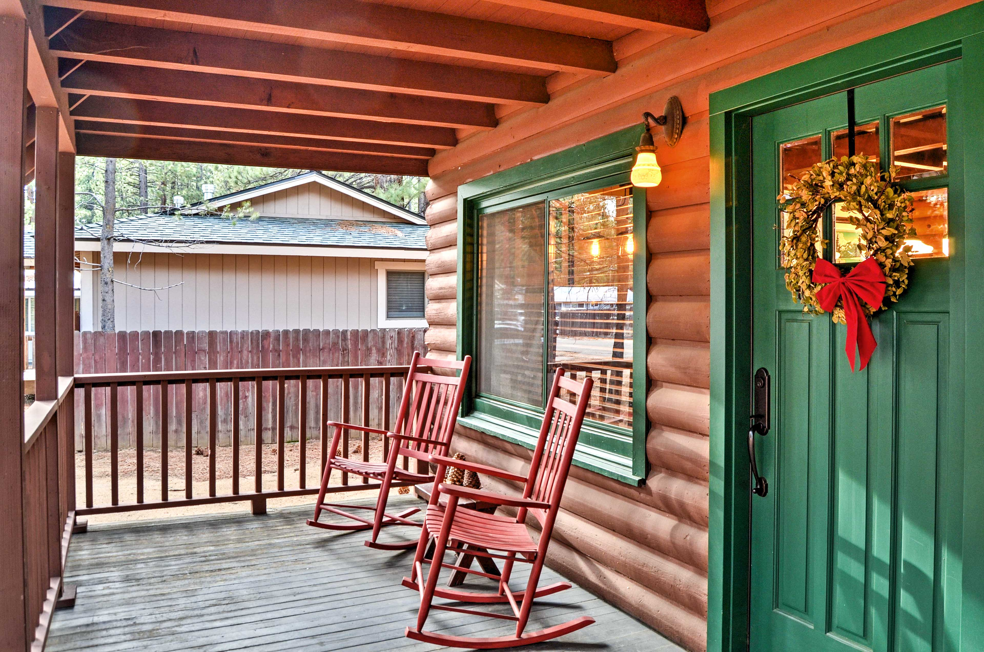 Sip your morning coffee in one of the cute rocking chairs on the porch.