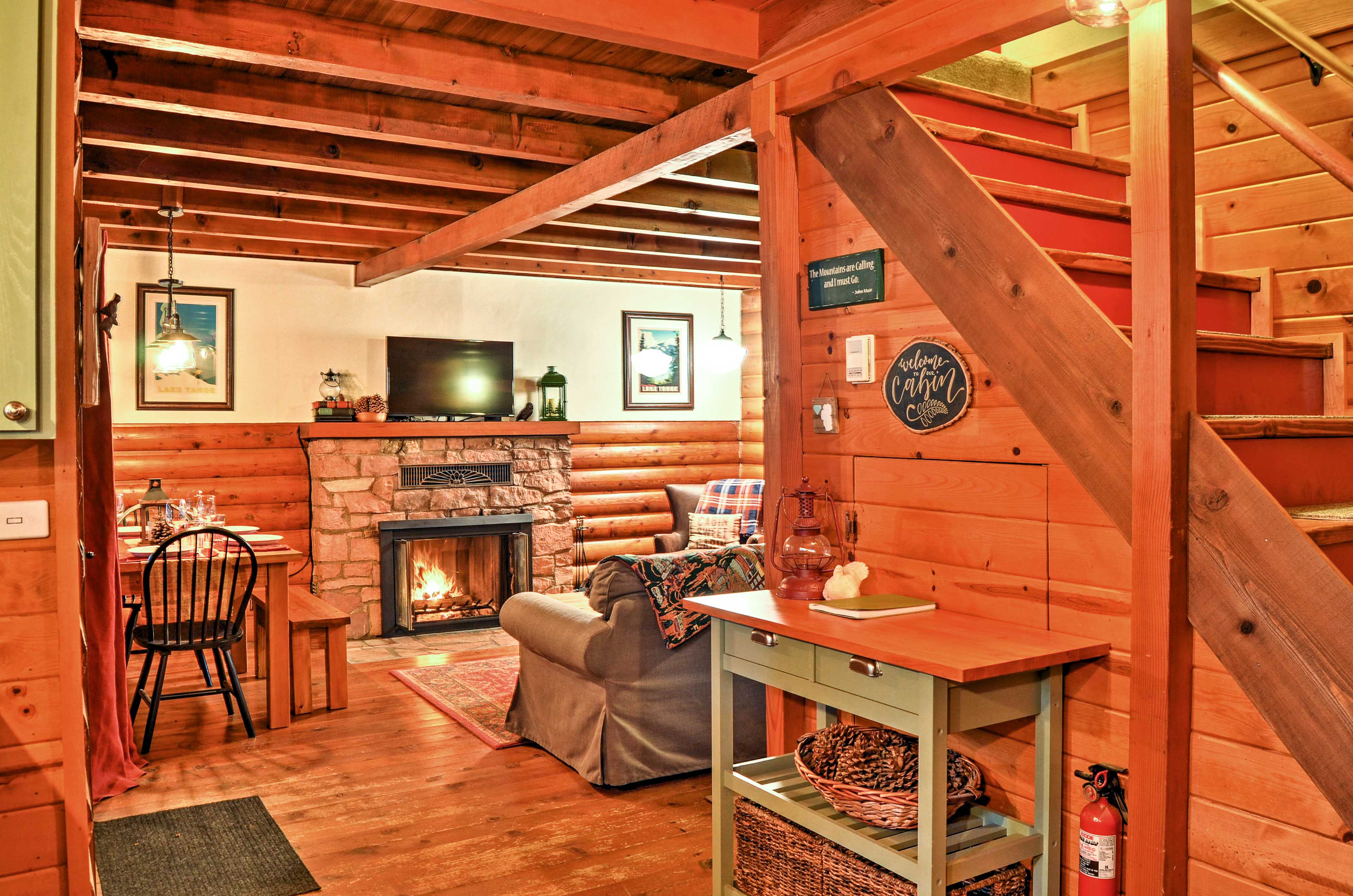 You'll love the layout of this restored cabin.