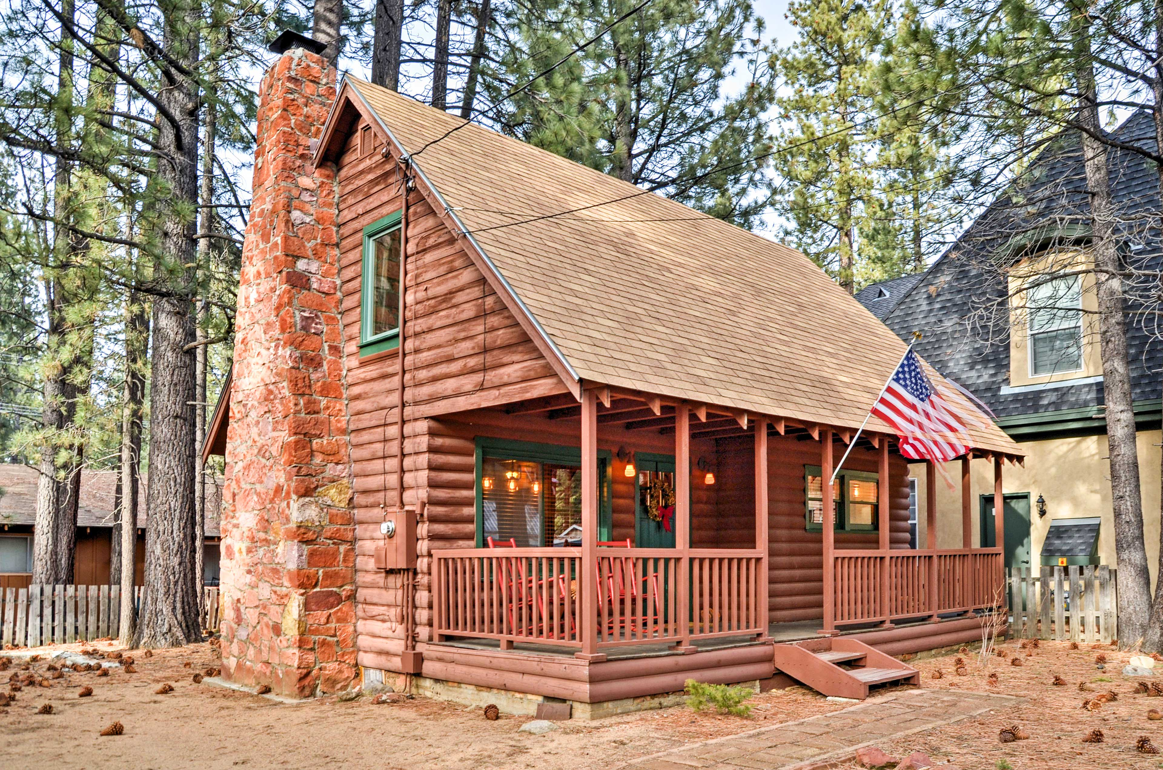 You'll love the vintage character of this 1950's California log cabin.