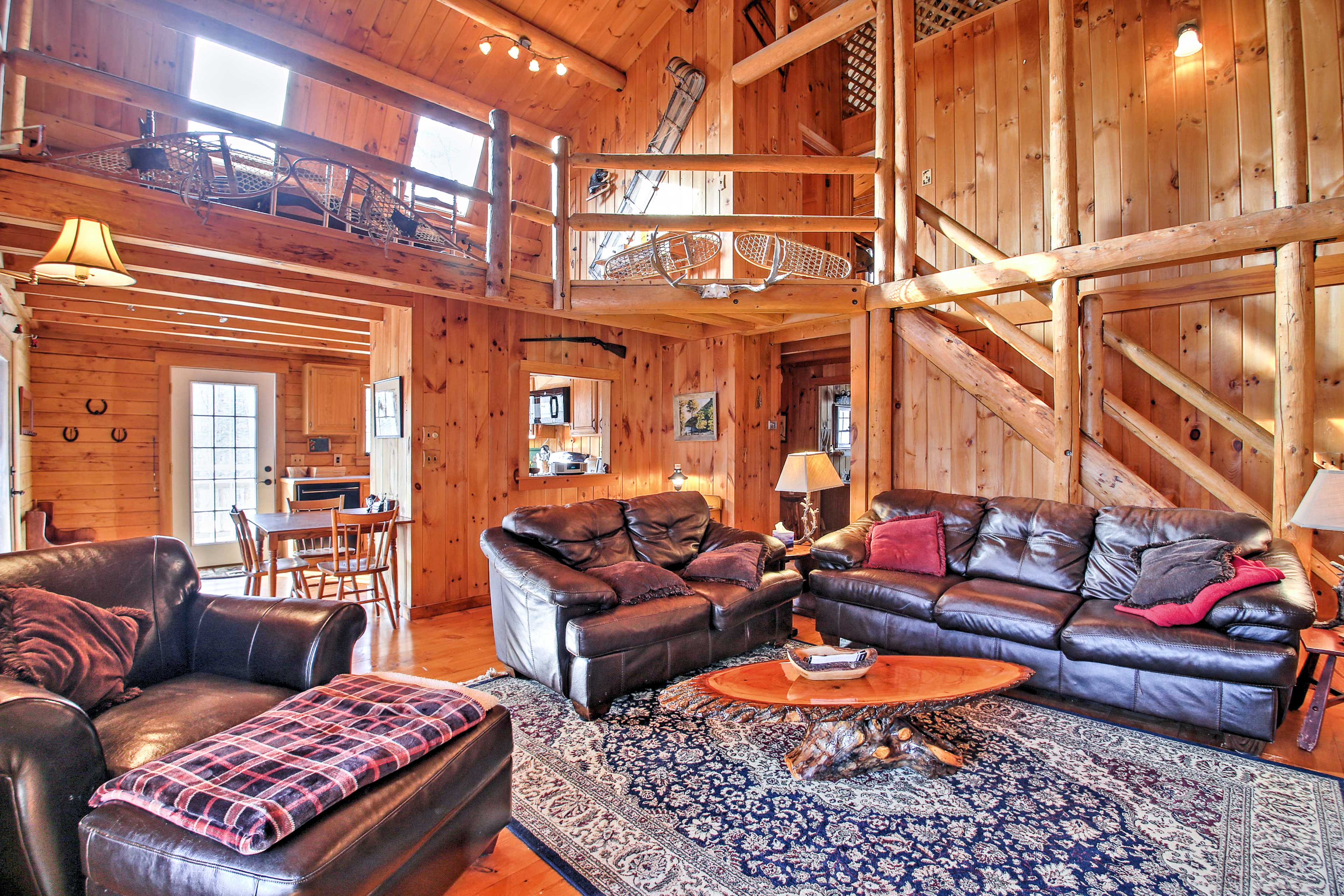 The rustic great room will quickly become your favorite place to unwind.